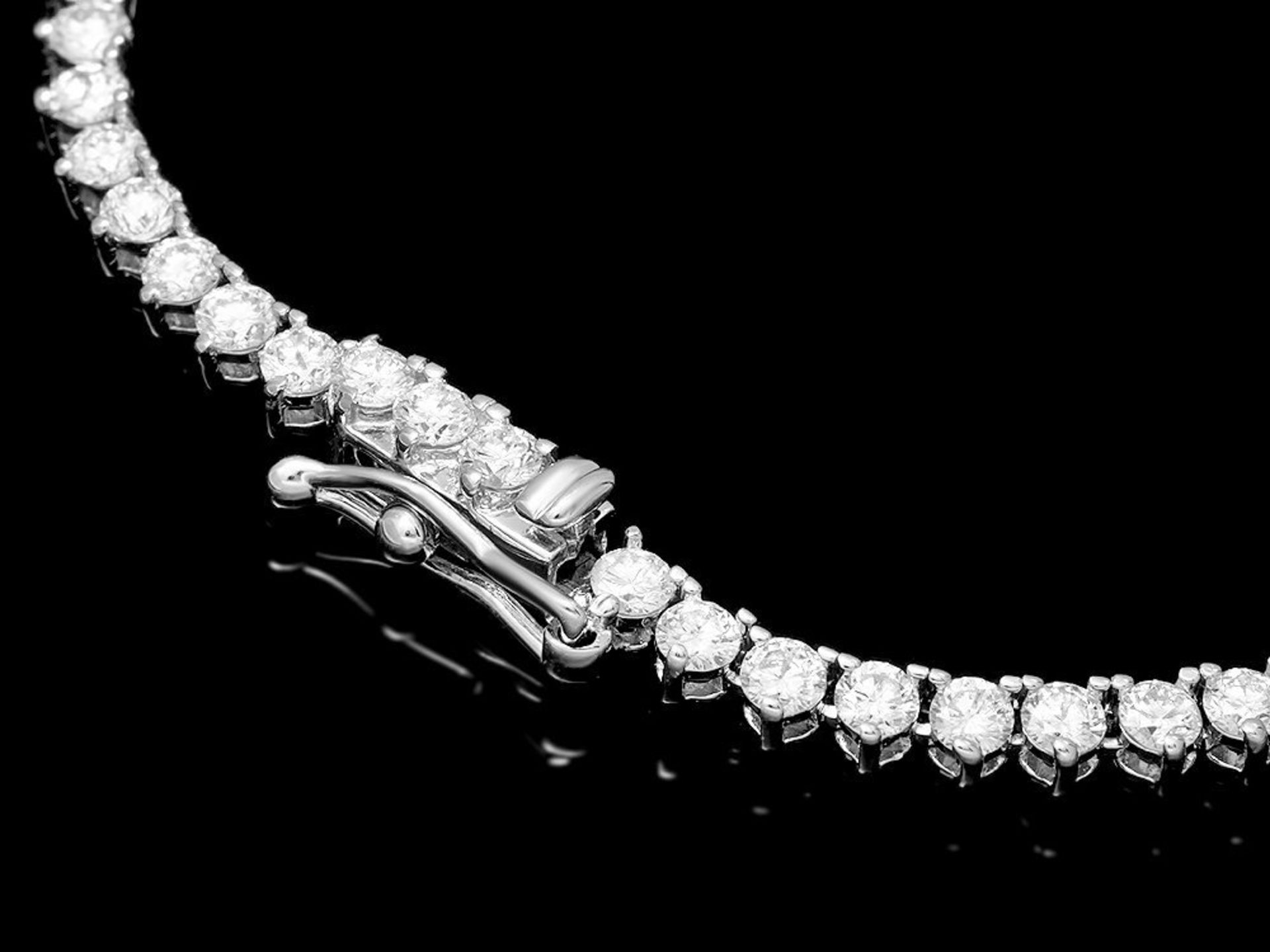 18k White Gold 8.00ct Diamond Necklace - Image 3 of 4