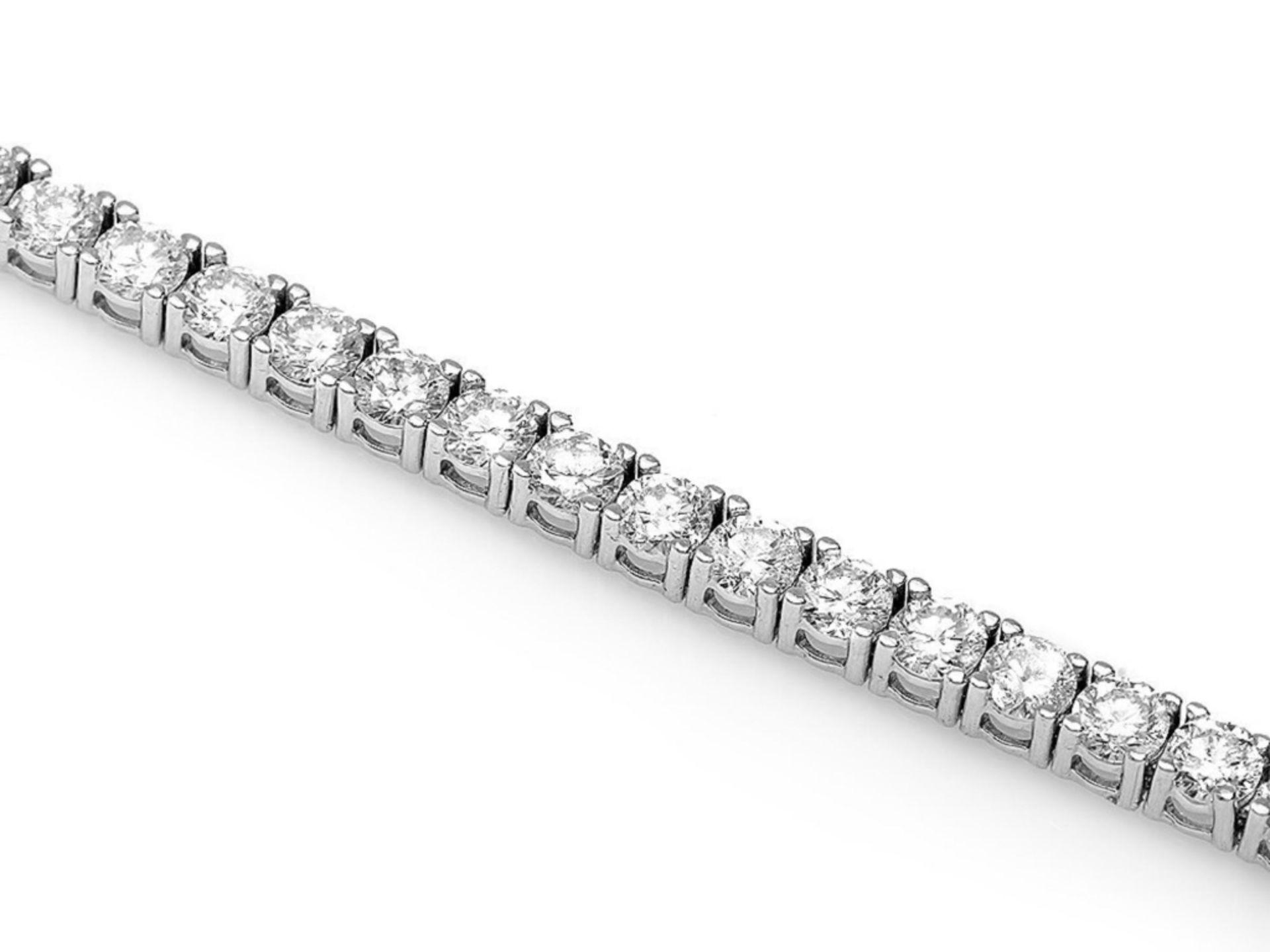 ^18k White Gold 5.00ct Diamond Bracelet - Image 2 of 4