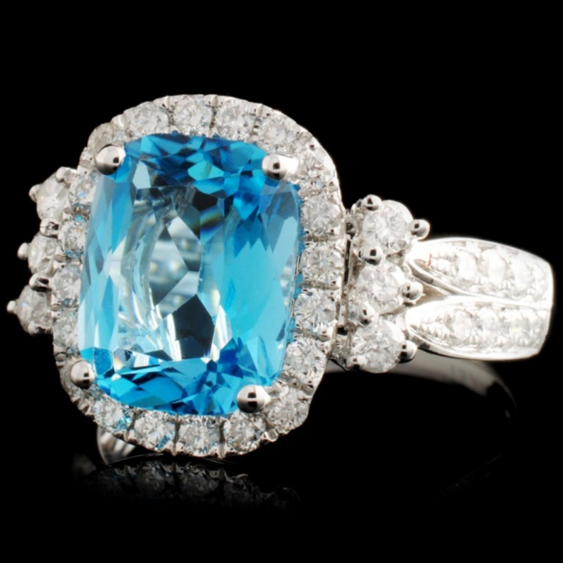 14K Gold 3.42ct Topaz & 0.74ctw Diamond Ring - Image 2 of 3
