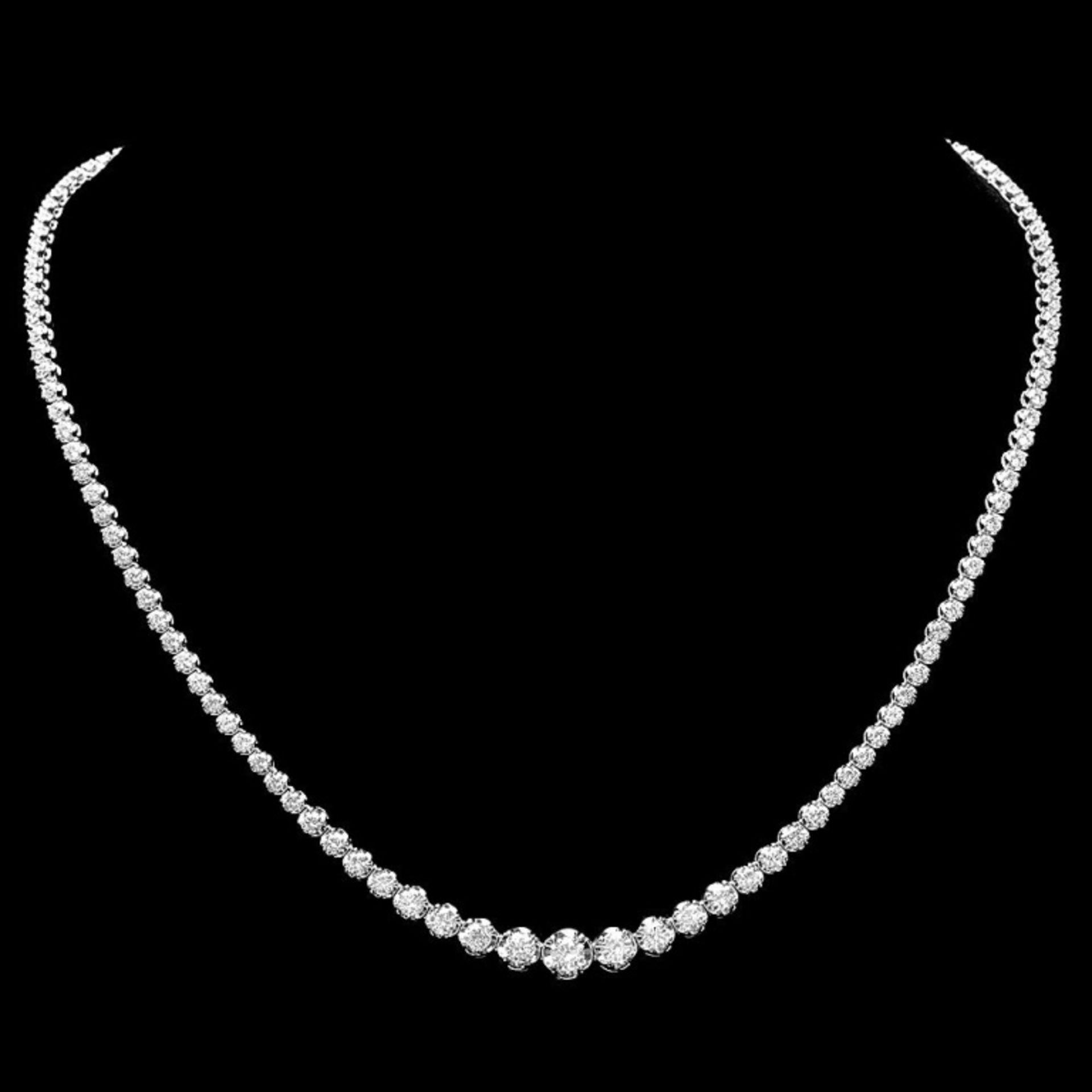 18k White Gold 7.00ct Diamond Necklace