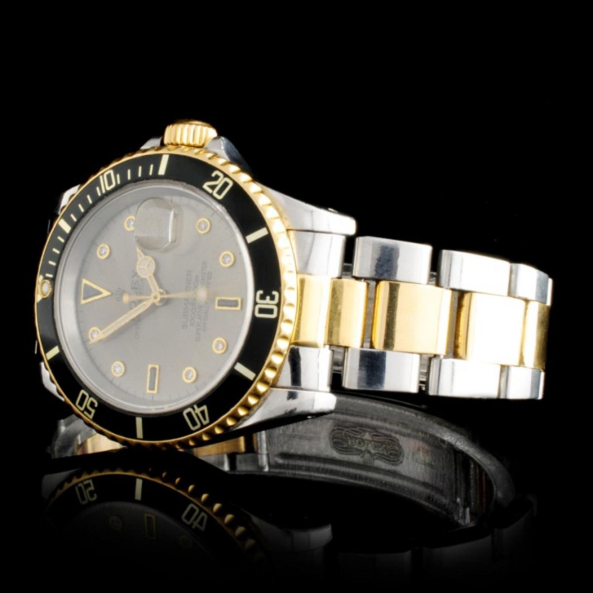 Rolex YG/SS Submariner Diamond 40MM Watch - Image 2 of 5