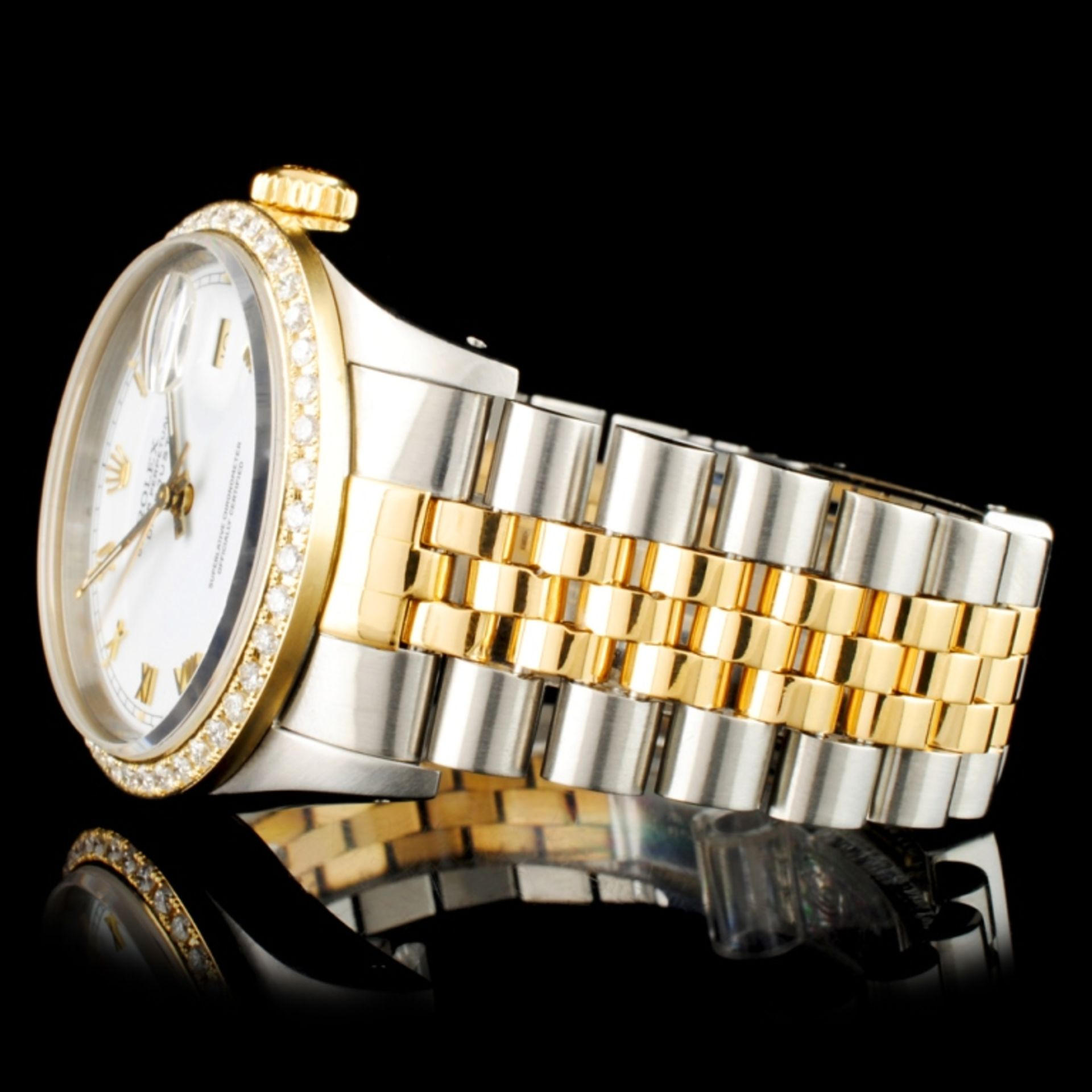 Rolex DateJust Diamond 36MM Wristwatch - Image 3 of 6