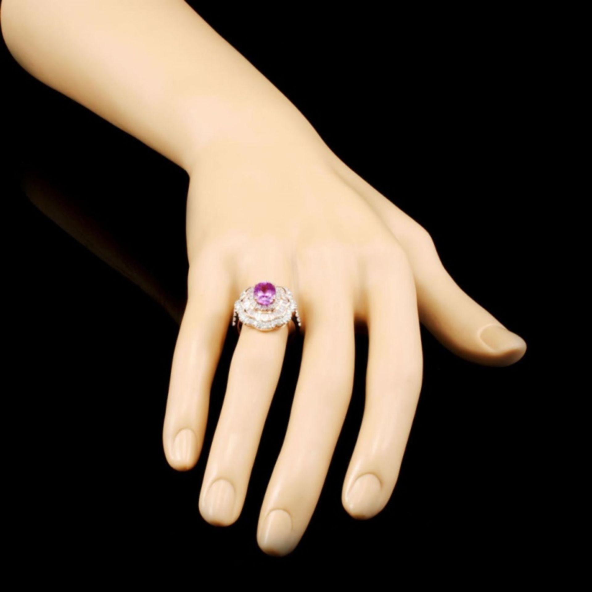 14K Gold 1.90ct Sapphire & 1.31ctw Diamond Ring - Image 3 of 5