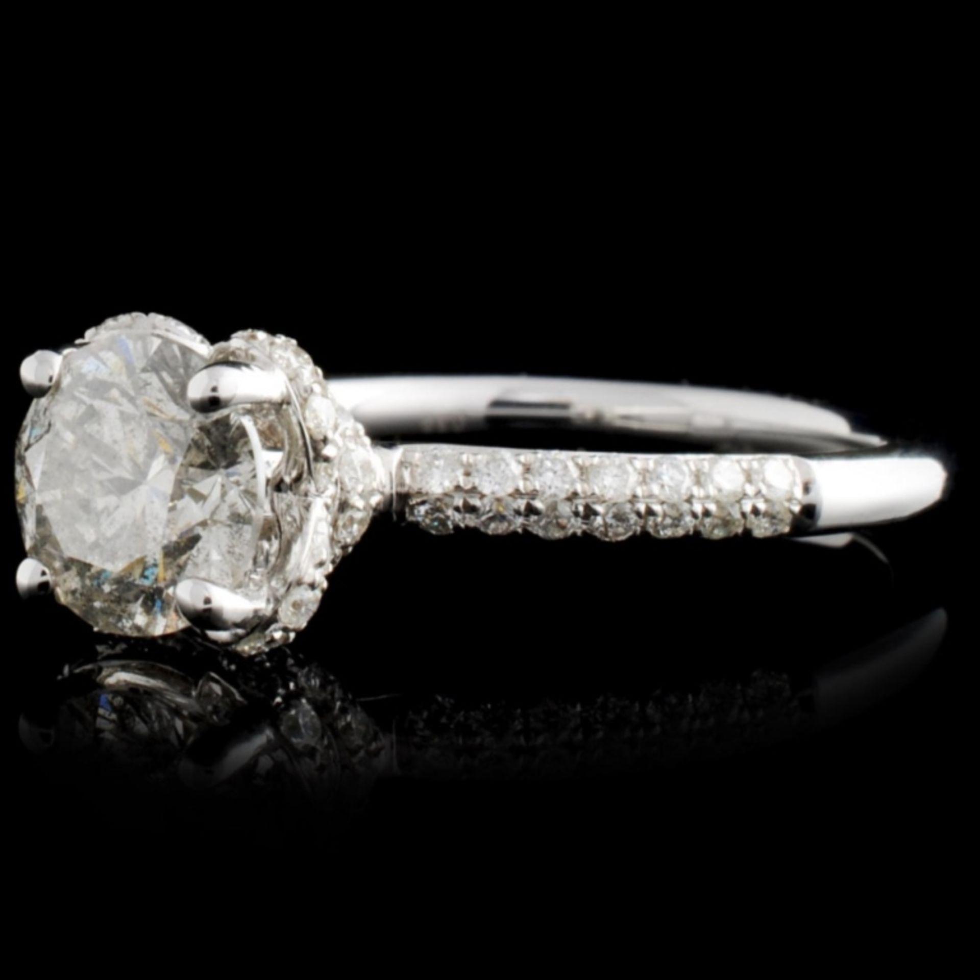 18K White Gold 1.58ctw Diamond Ring - Image 2 of 4