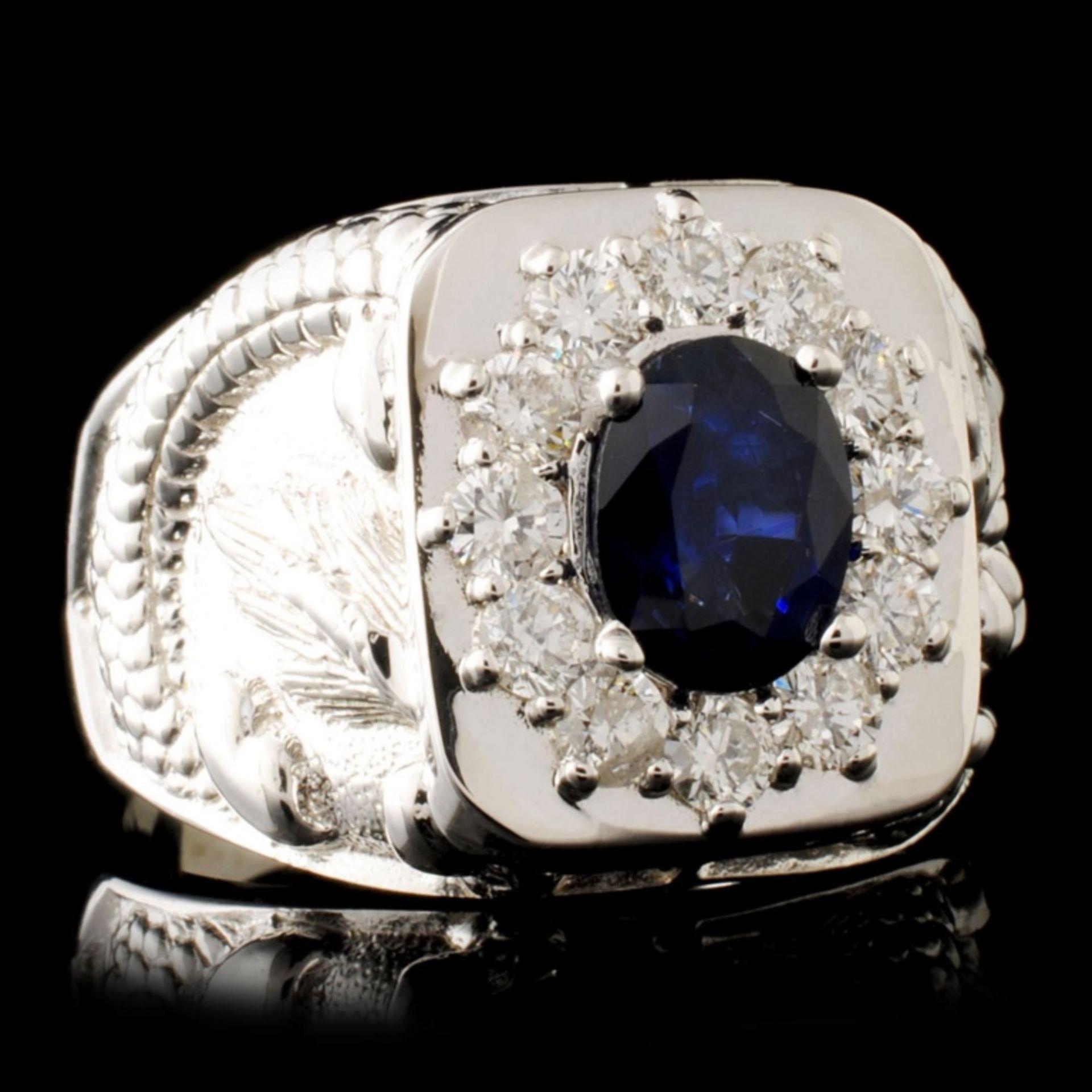 14K Gold 2.00ct Sapphire & 0.90ctw Diamond Ring - Image 3 of 5