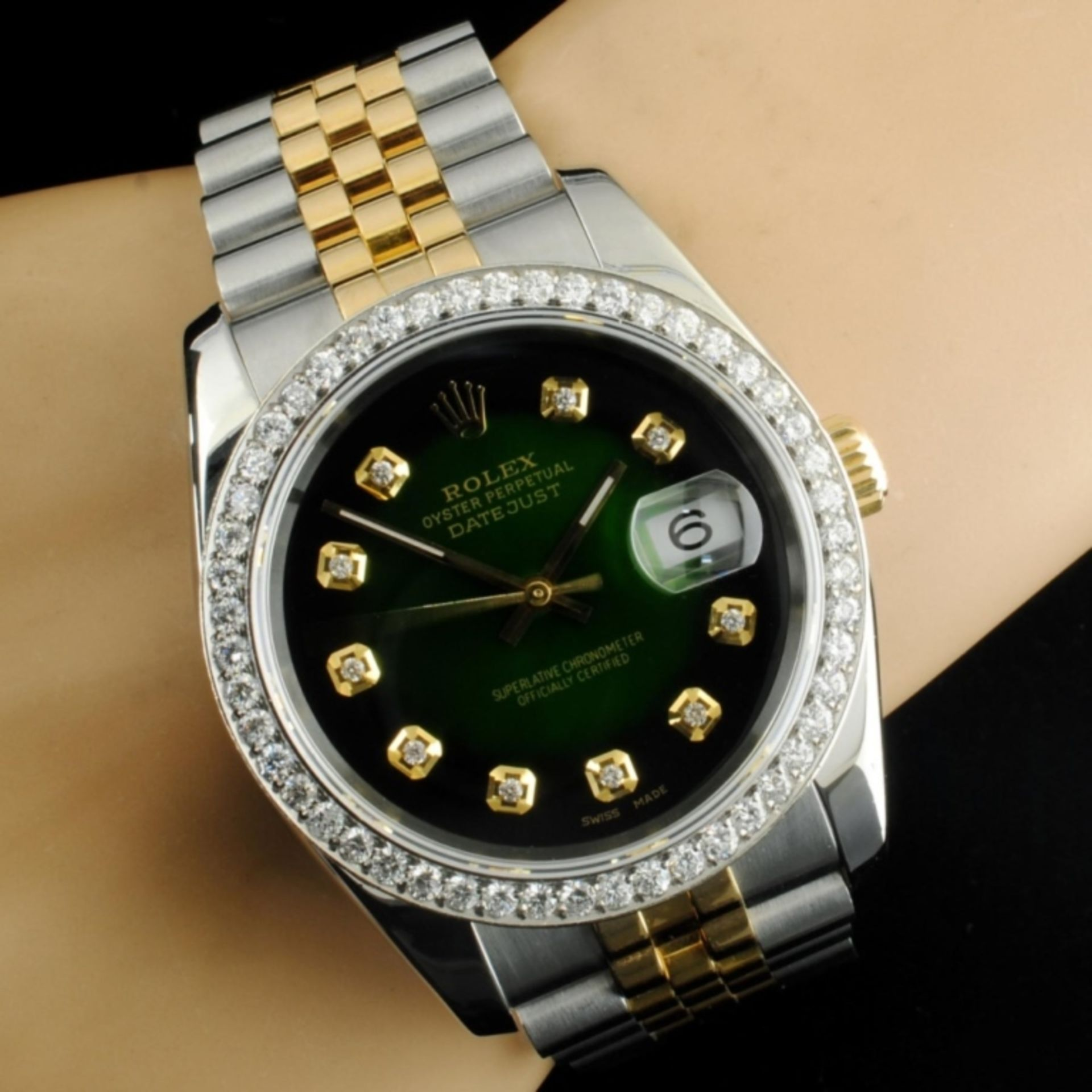 Rolex DateJust 116233 18K YG/SS Diamond 36MM Watch - Image 6 of 7
