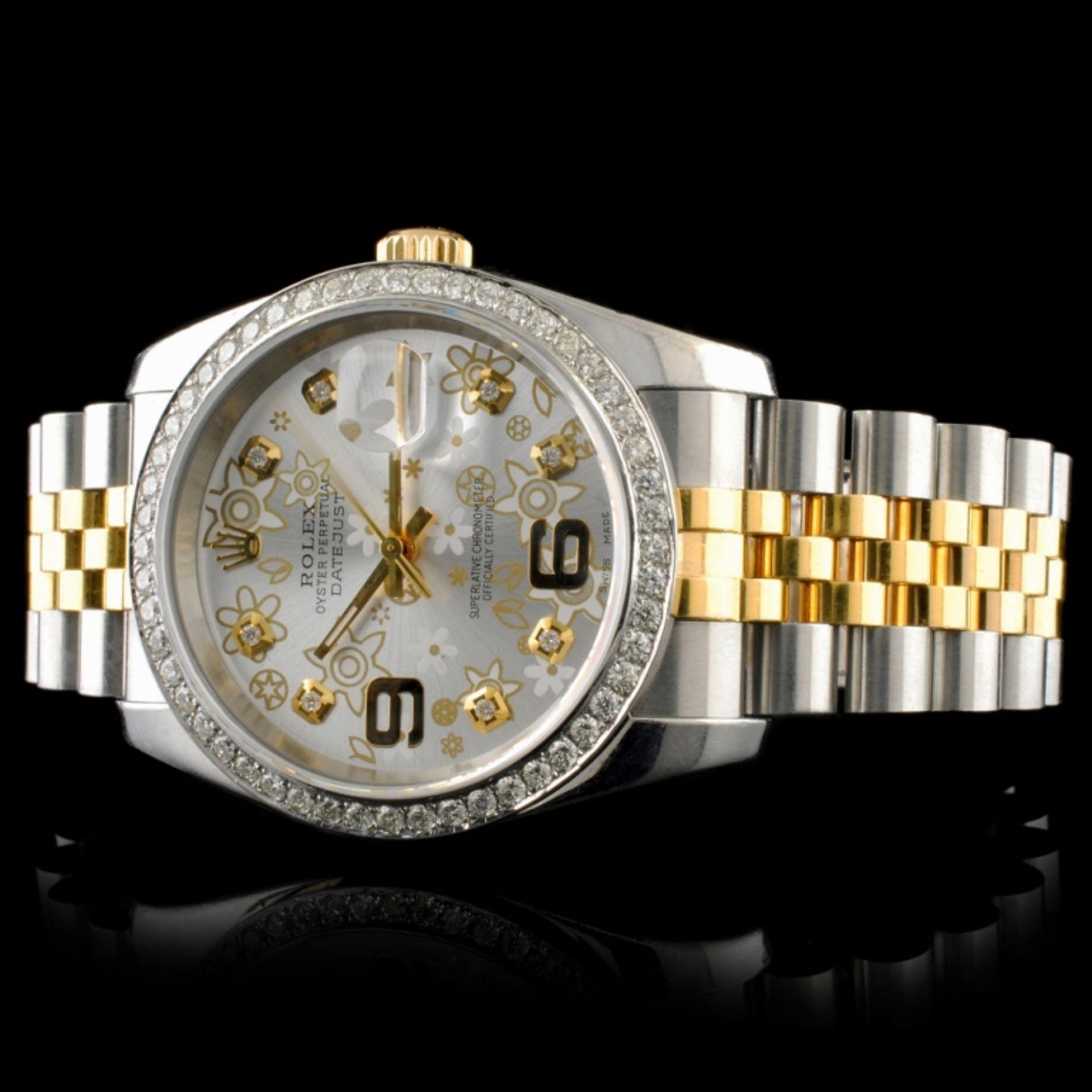 Rolex DateJust 116233 18K YG/SS Diamond 36MM Watch - Image 2 of 7