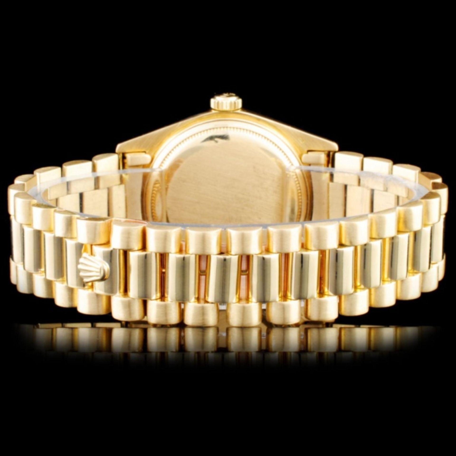 Rolex 18K YG Presidential Diamond Wristwatc - Image 3 of 4