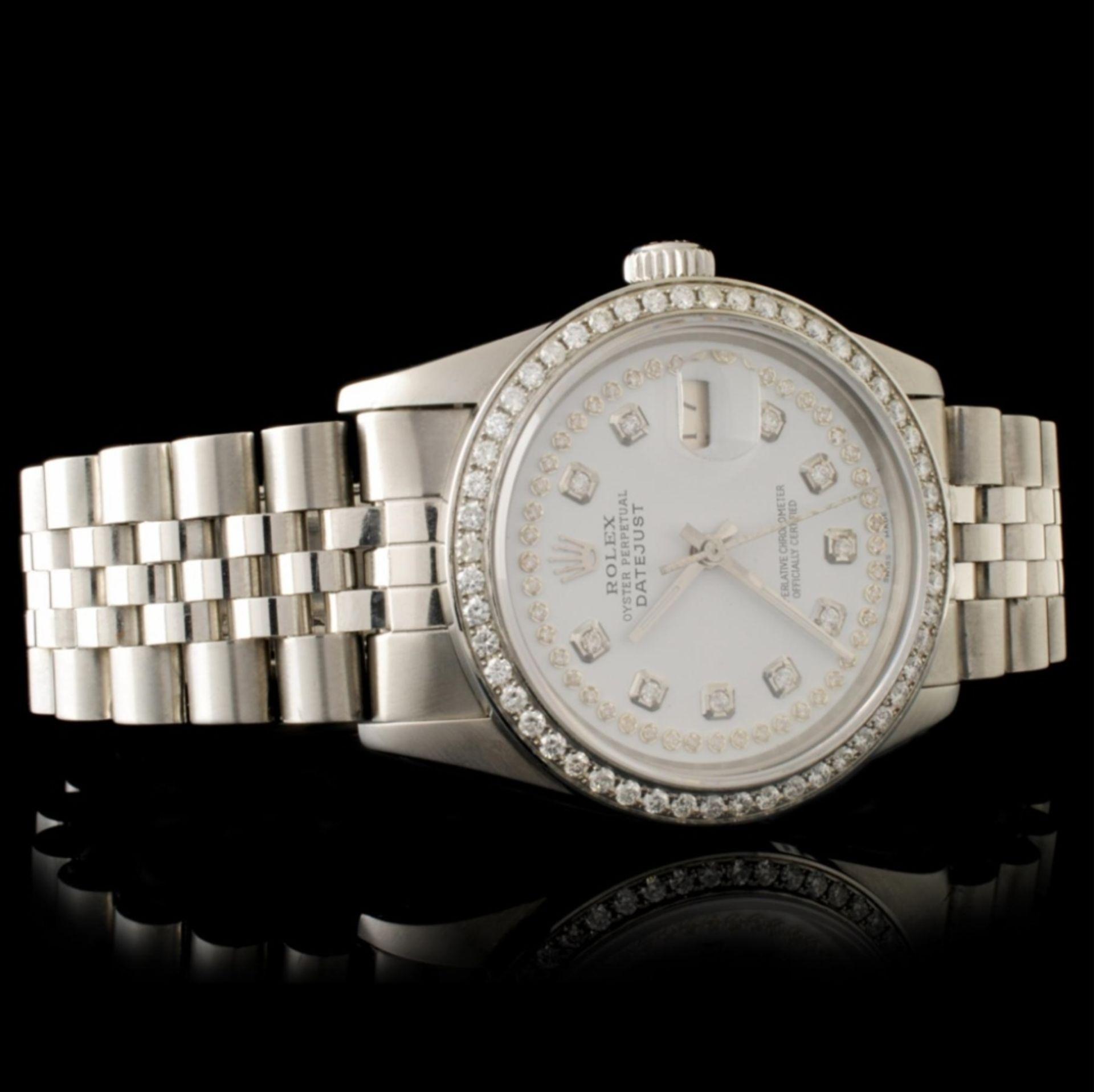 Rolex DateJust Diamond 36MM Wristwatch - Image 3 of 7