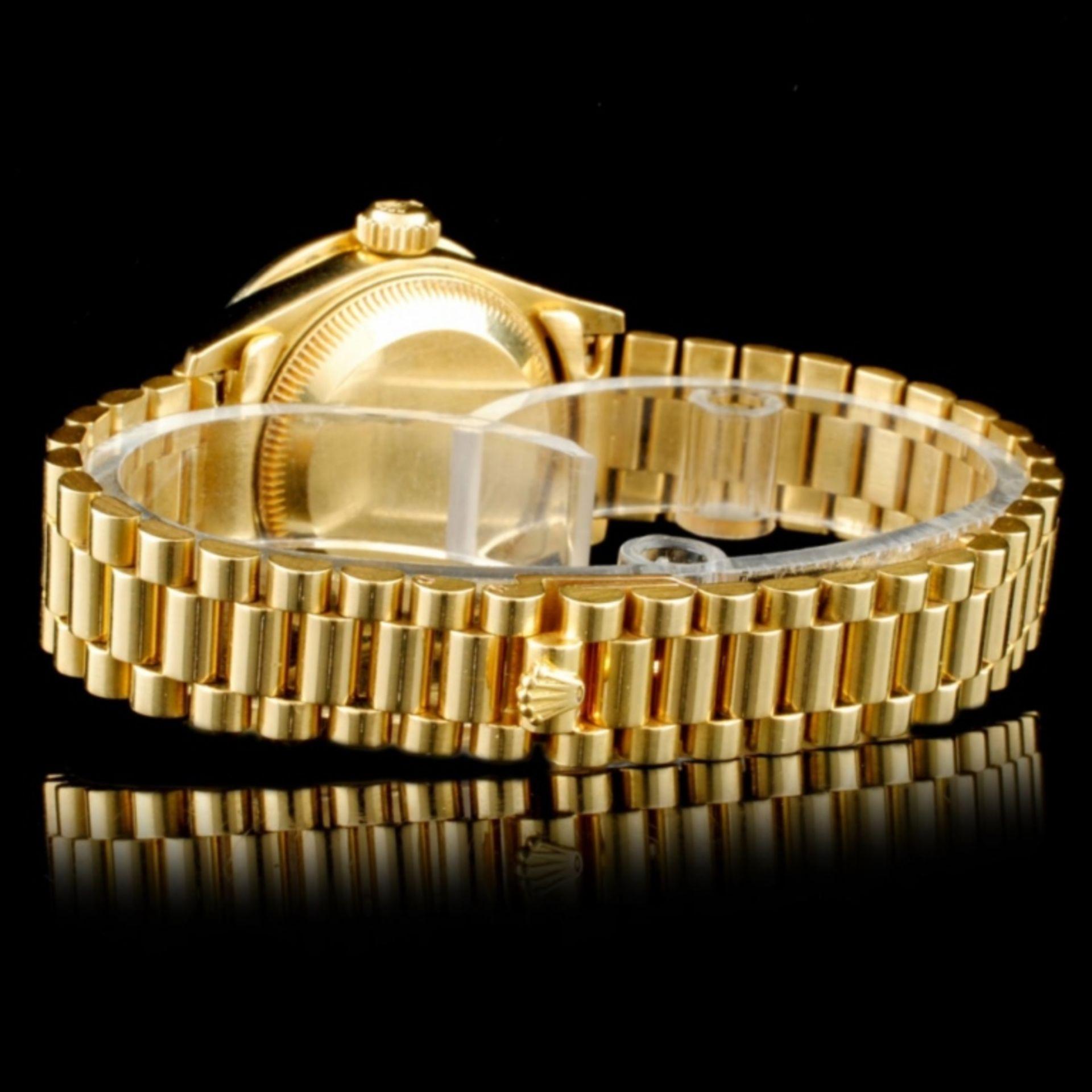 Rolex DateJust 18K YG Diamond 26MM Watch - Image 4 of 6