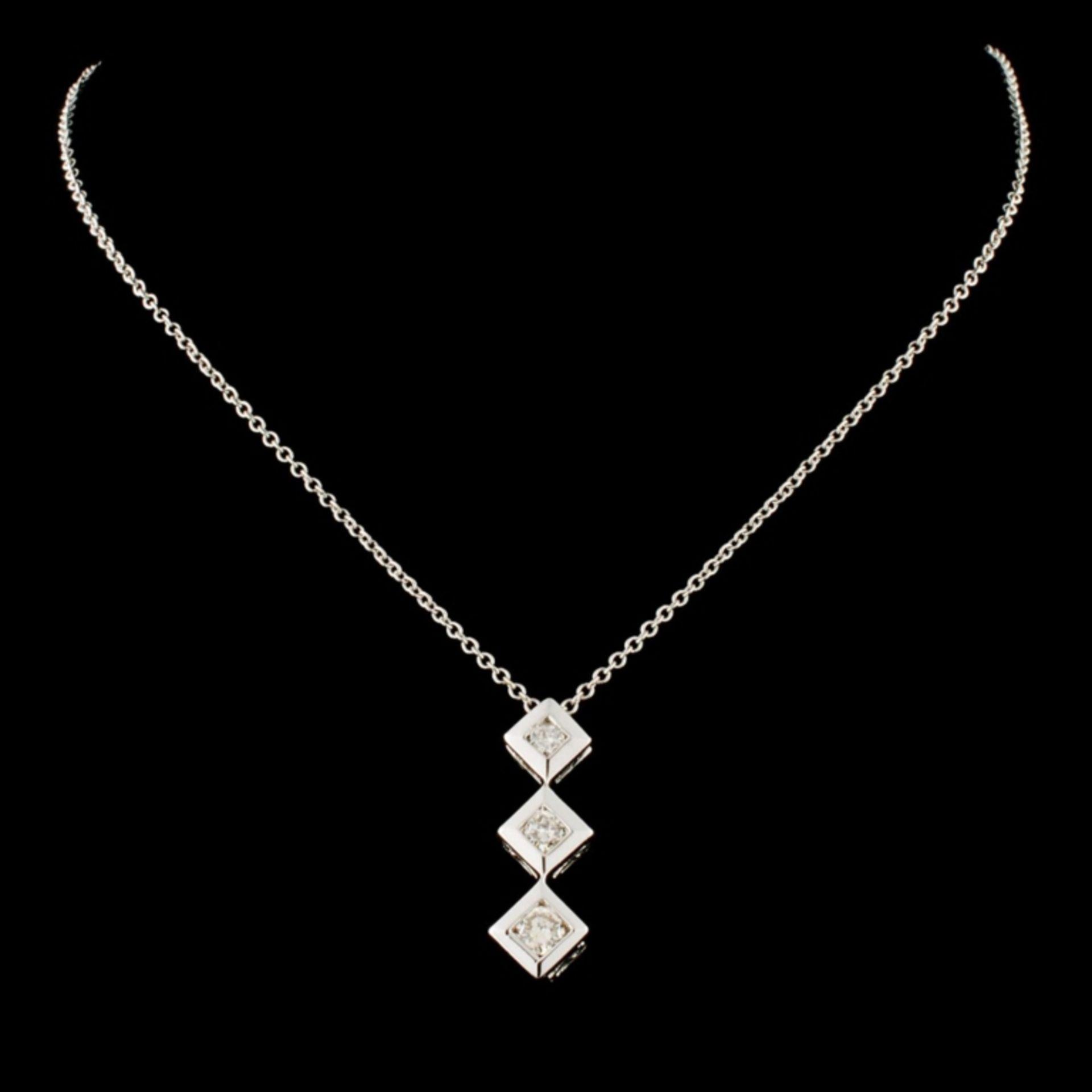 14K Gold 0.25ctw Diamond Pendant