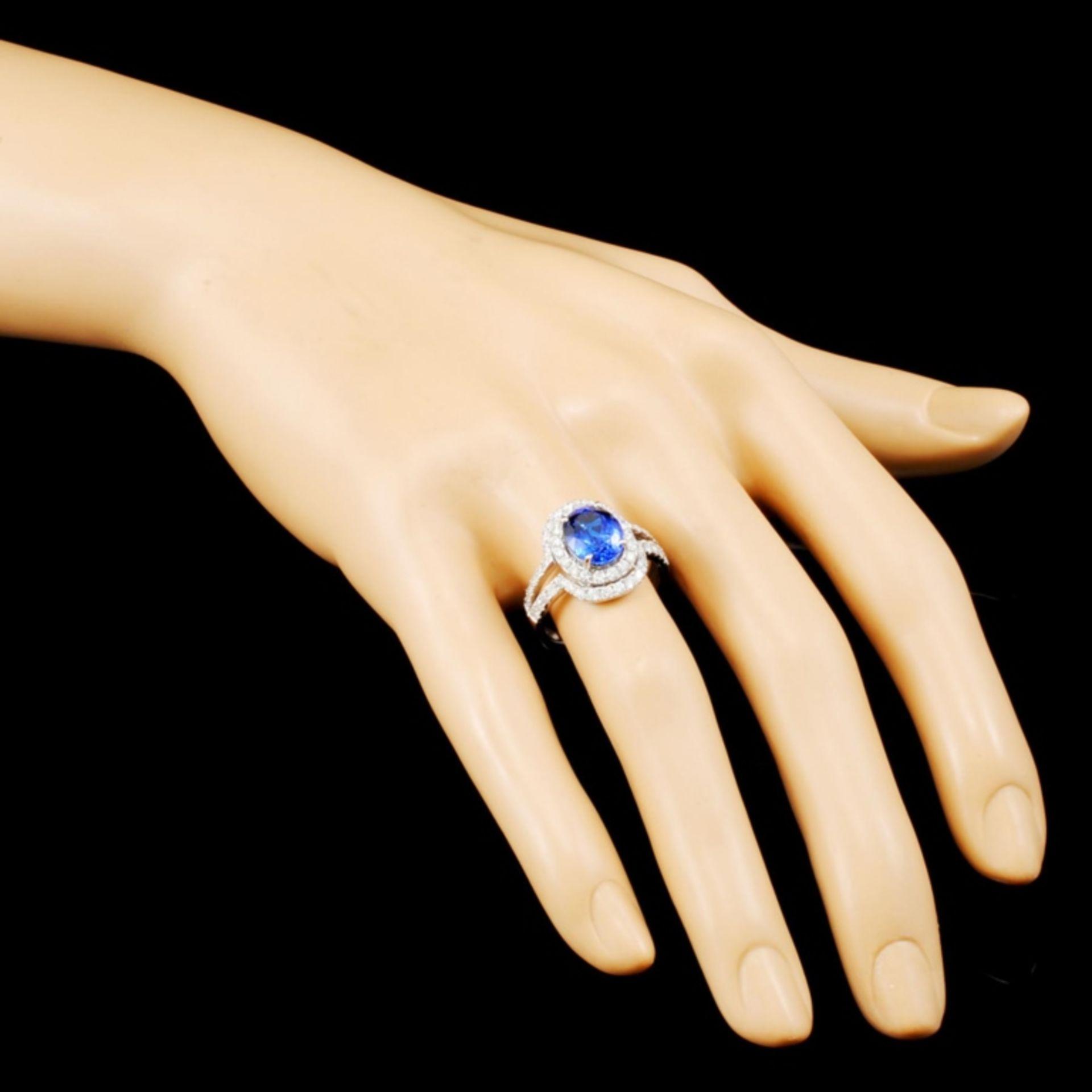 18K Gold 2.78ct Tanzanite & 1.05ctw Diamond Ring - Image 3 of 5