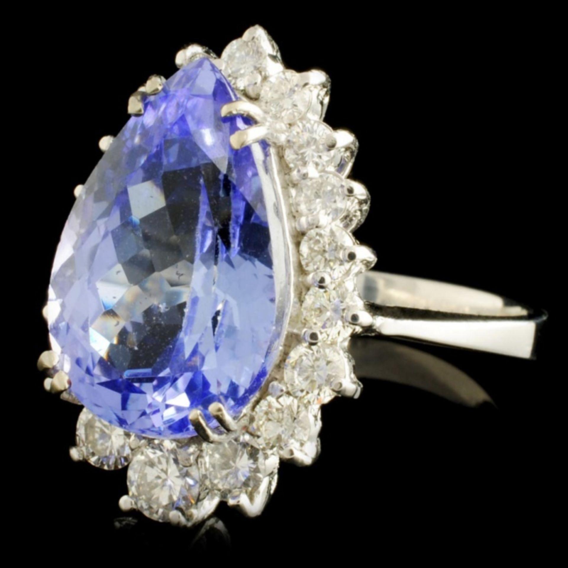14K Gold 7.07ct Tanzanite & 1.01ctw Diamond Ring - Image 2 of 5