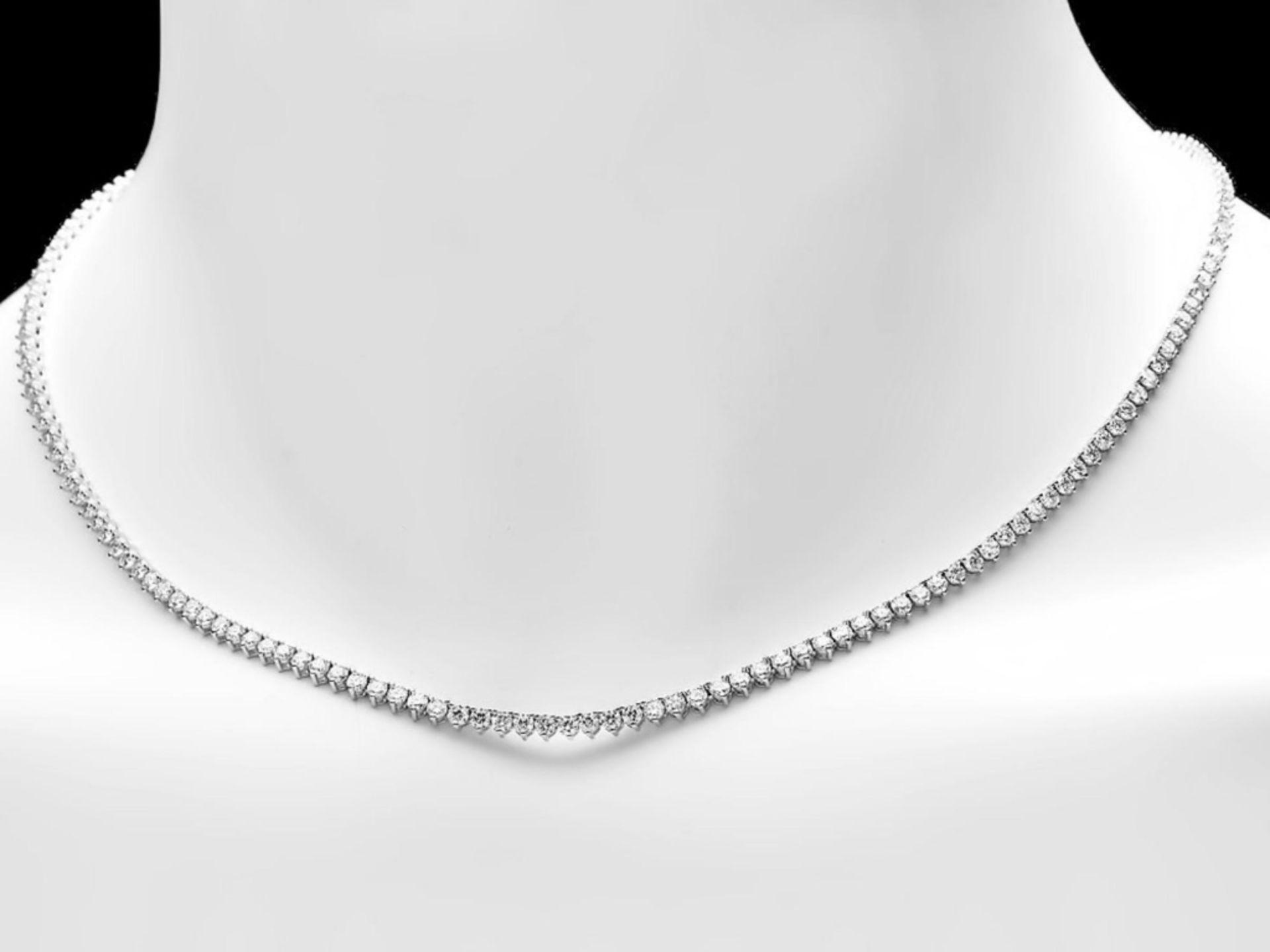 ^18k White Gold 8.00ct Diamond Necklace - Image 2 of 4