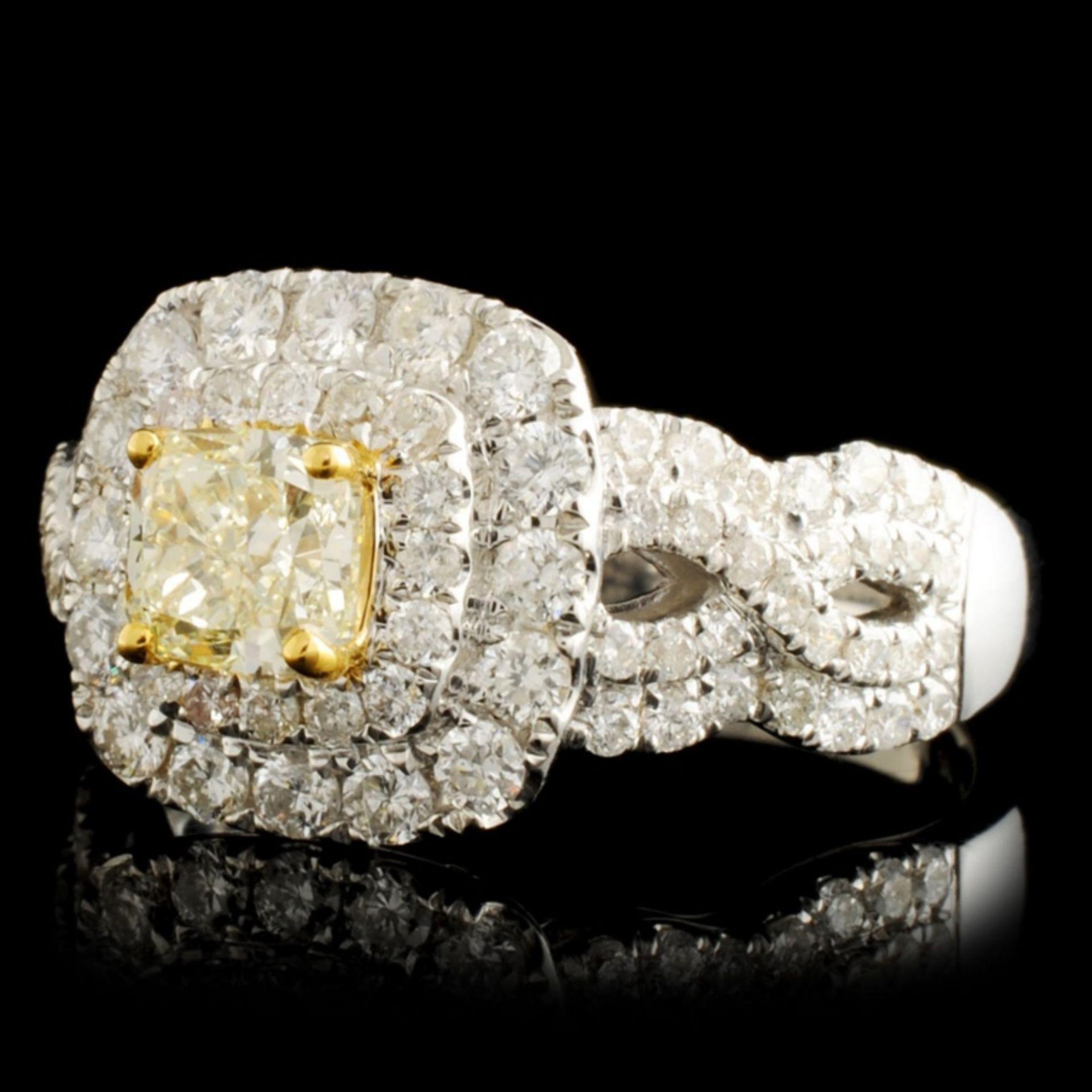 18K Gold 1.52ctw Fancy Diamond Ring - Image 2 of 5