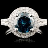 18K Gold 2.03ctw Fancy Color Diamond Ring