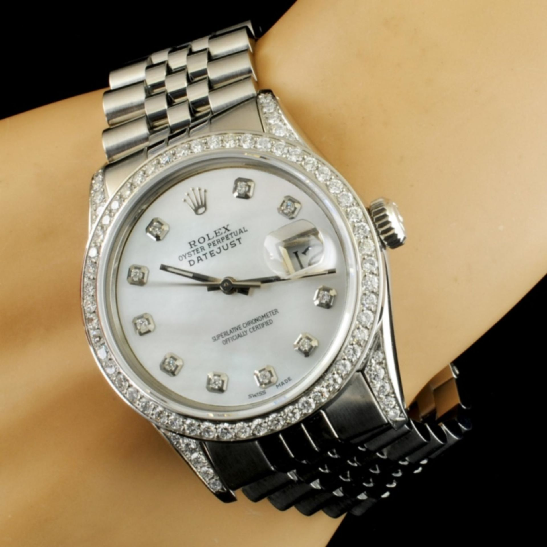 Rolex DateJust 1.50ctw Diamond 36MM Wristwatch - Image 2 of 6