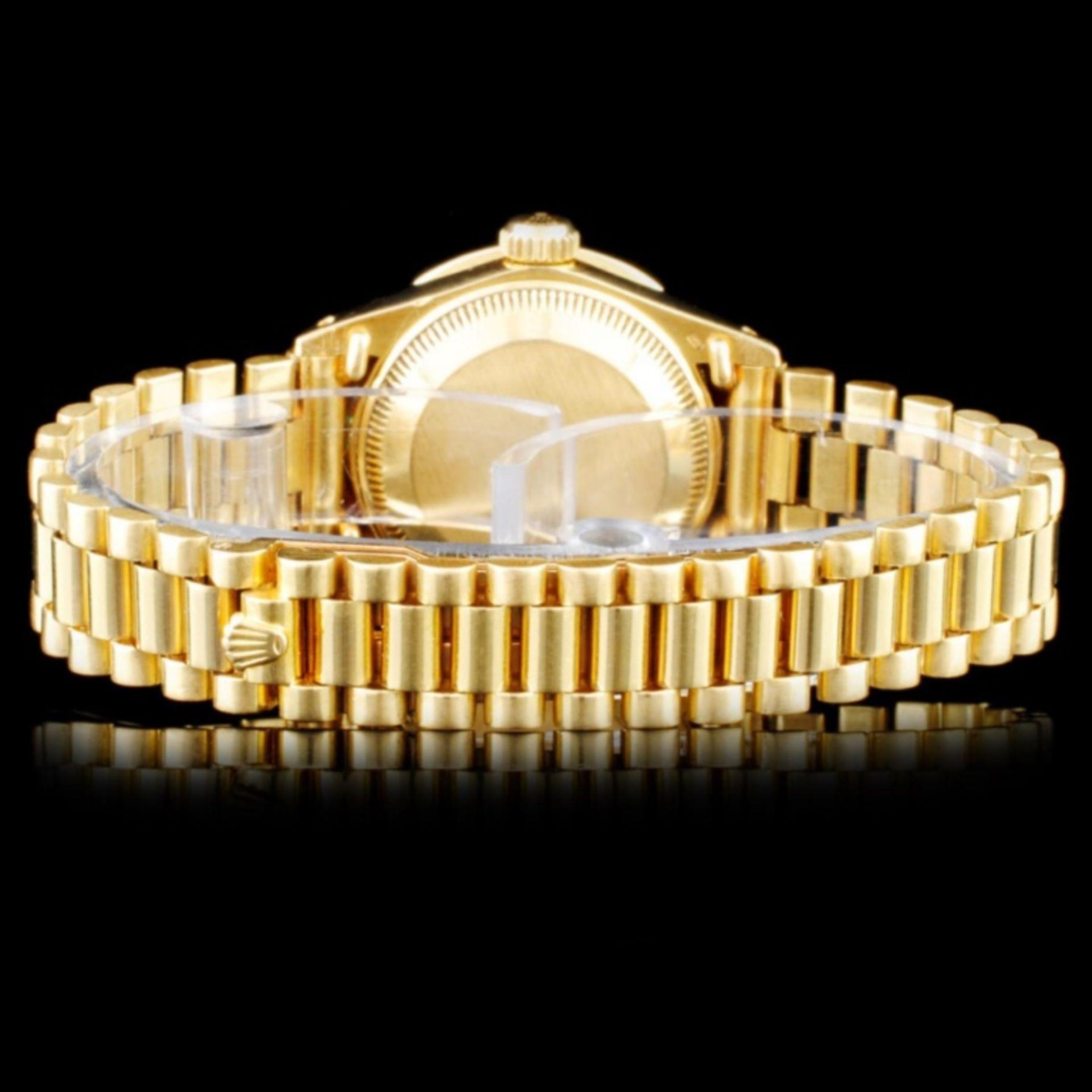 Rolex 18K Gold Presidential Ladies Wristwatch - Image 3 of 5