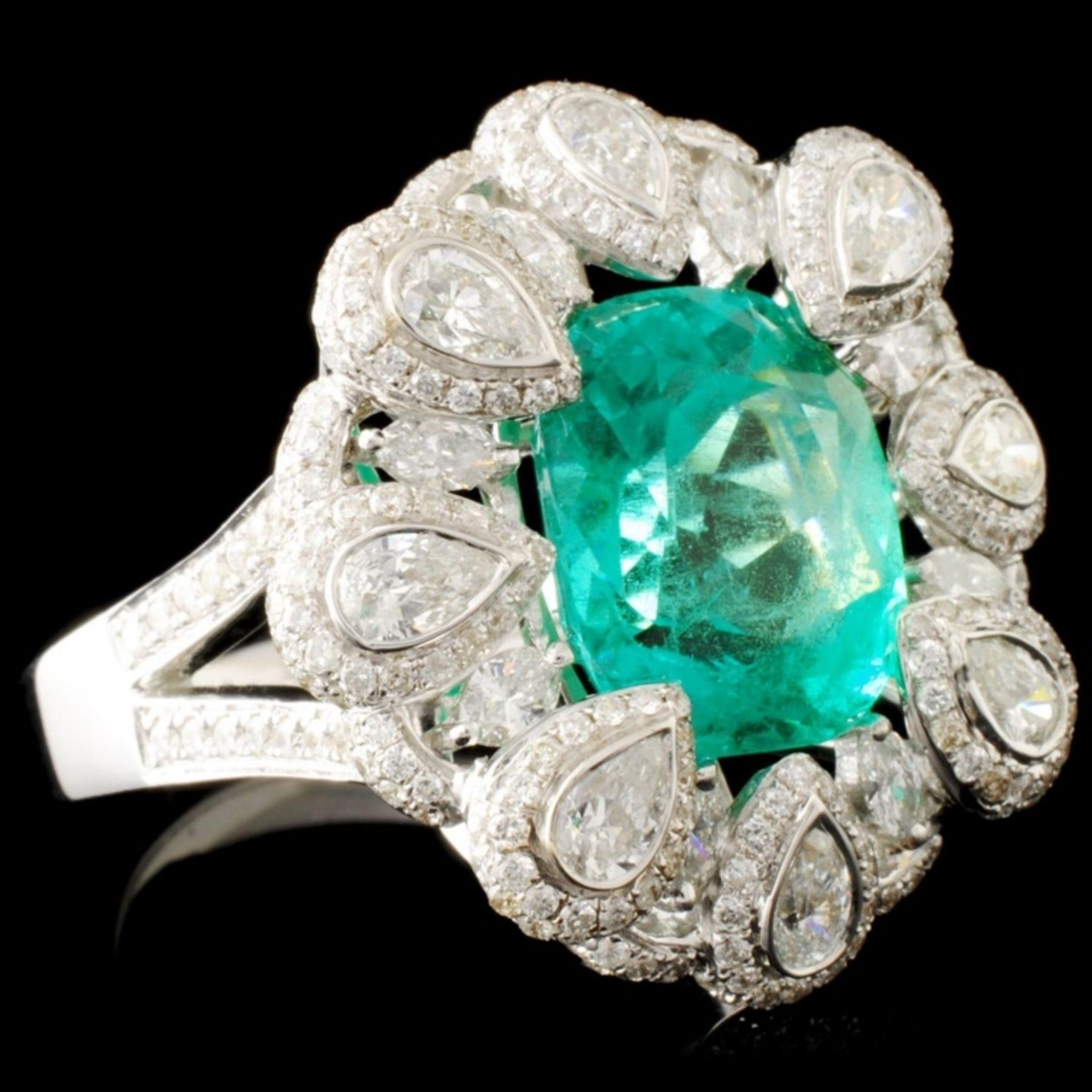 18K Gold 4.83ct Emerald & 2.02ctw Diamond Ring - Image 3 of 5
