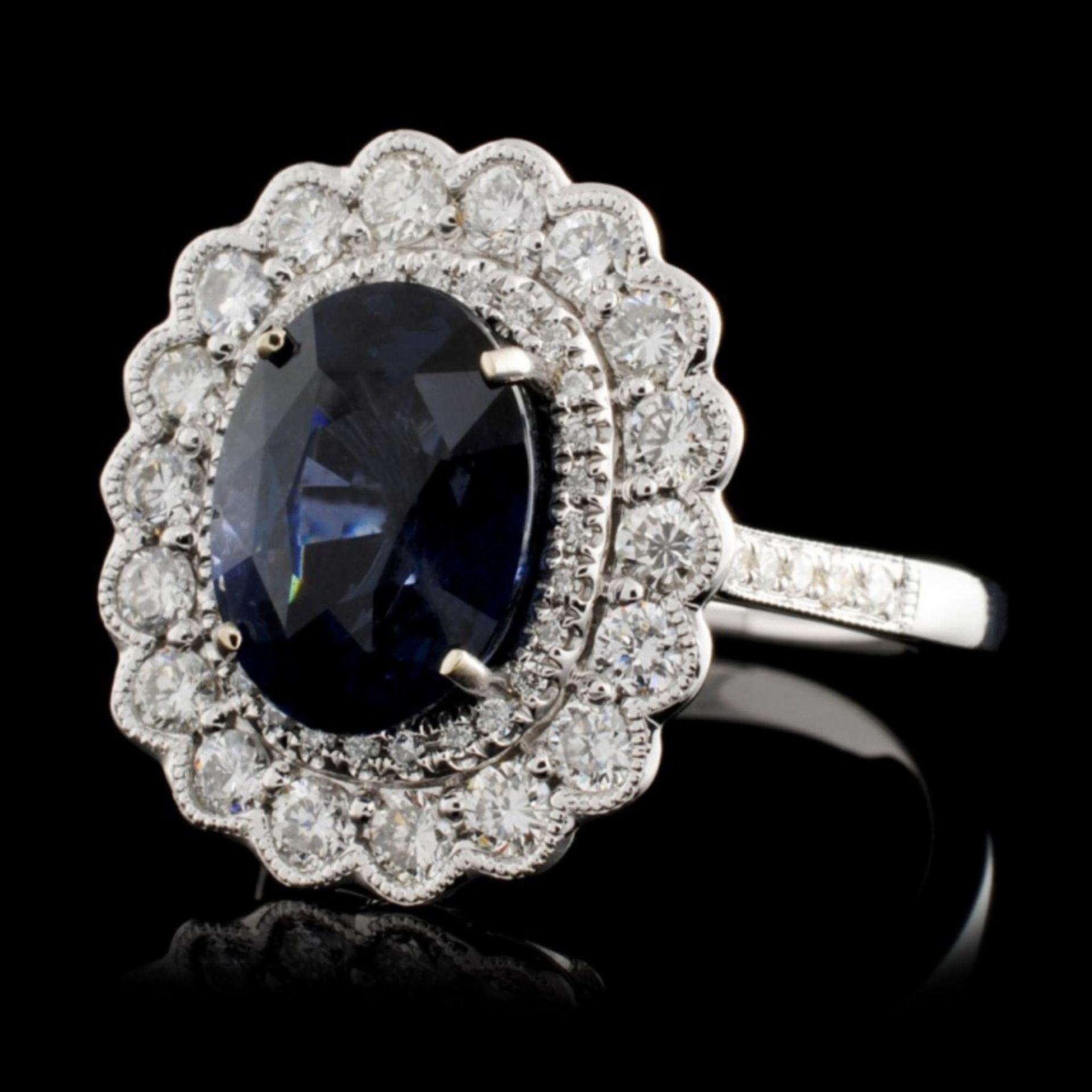 18K White Gold 3.52ct Spinel & 0.78ct Diamond Ring - Image 2 of 4