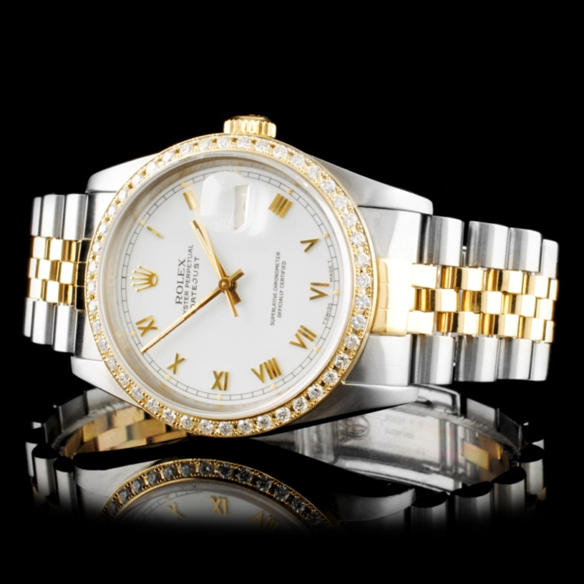 Rolex DateJust Diamond 36MM Wristwatch - Image 2 of 6