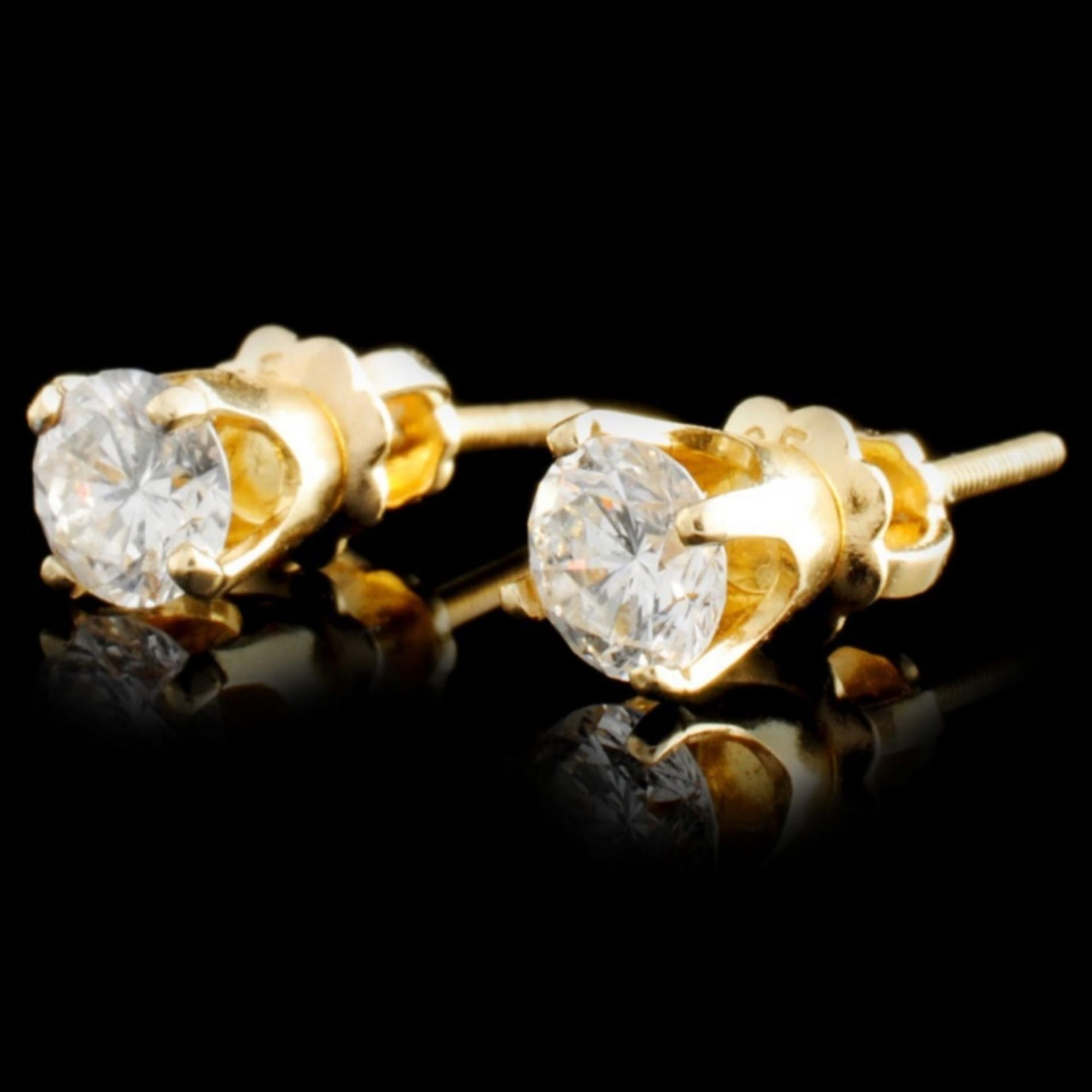 14K Gold 0.58ctw Diamond Earrings - Image 2 of 2