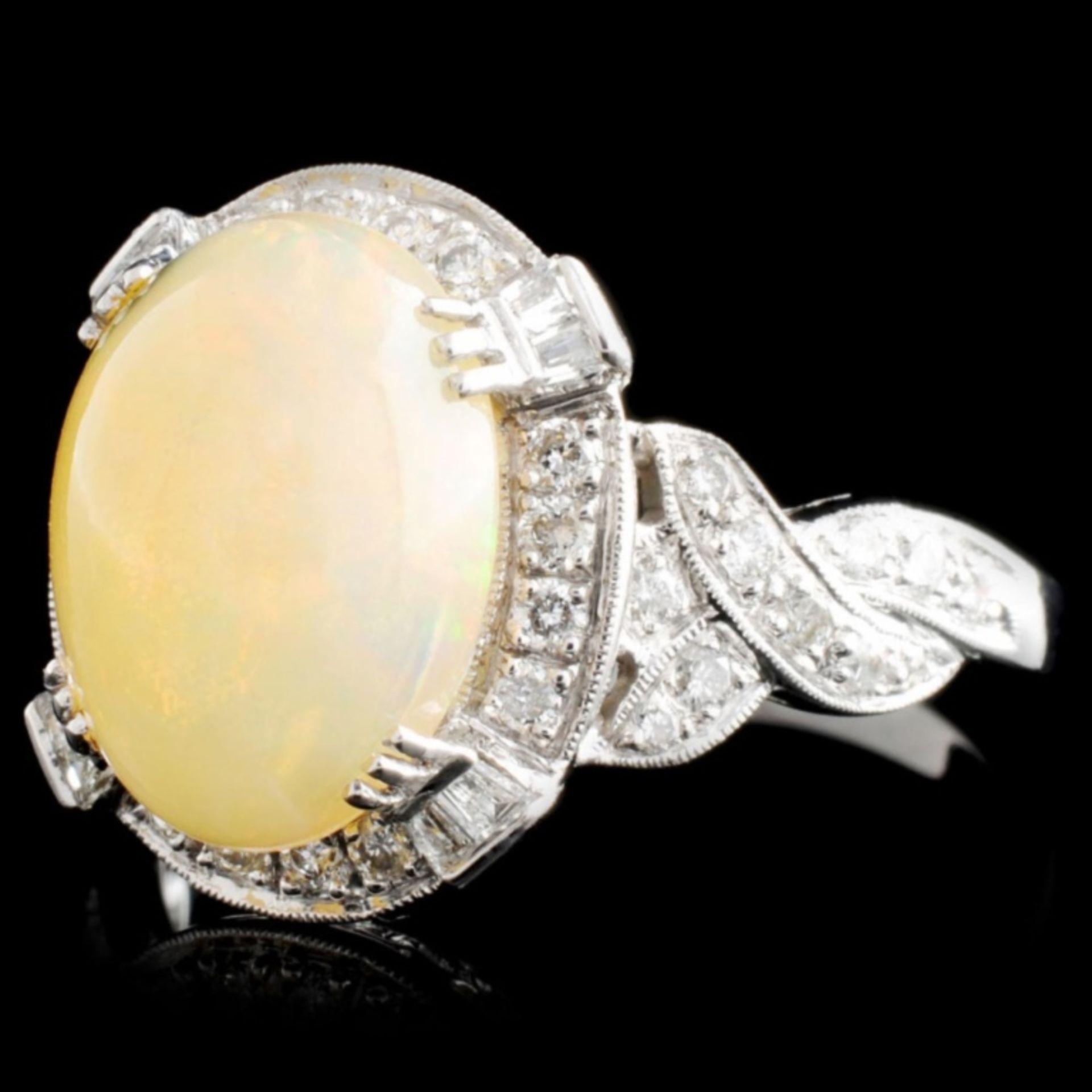 18K Gold 2.14ct Opal & 0.48ctw Diamond Ring - Image 2 of 5