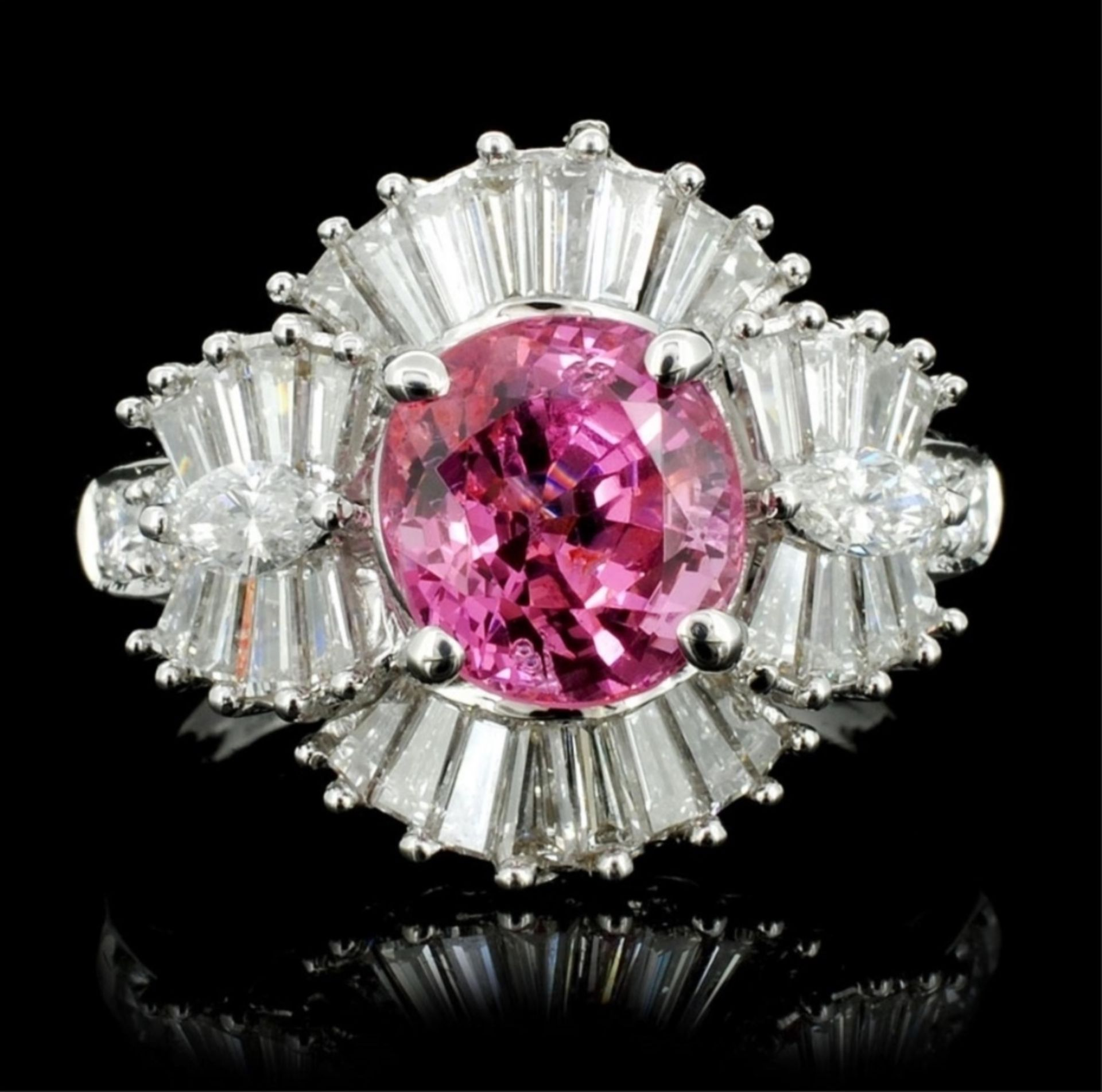 18K White Gold 2.26ct Spinel & 1.51ct Diamond Ring