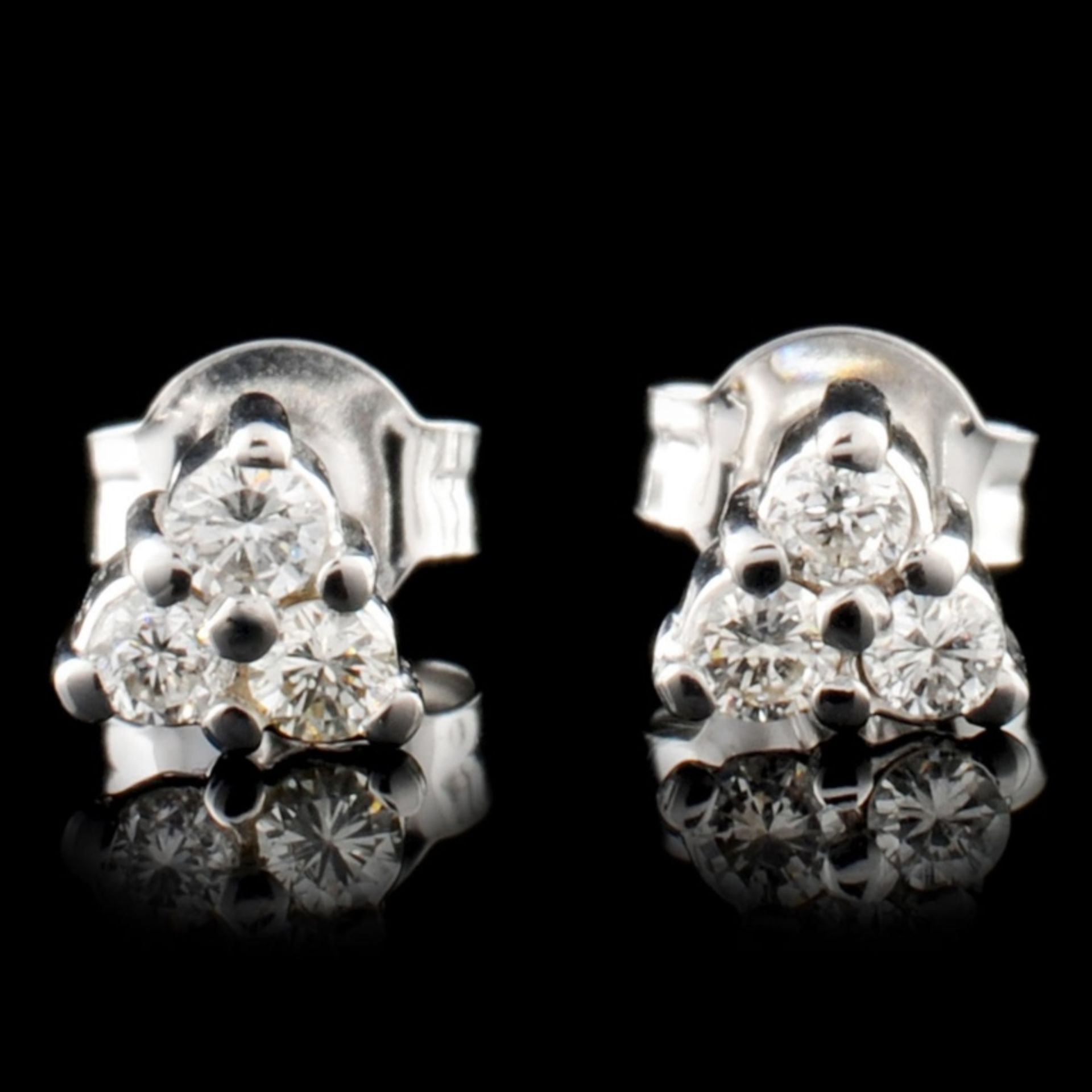 14K Gold 0.26ctw Diamond Earrings