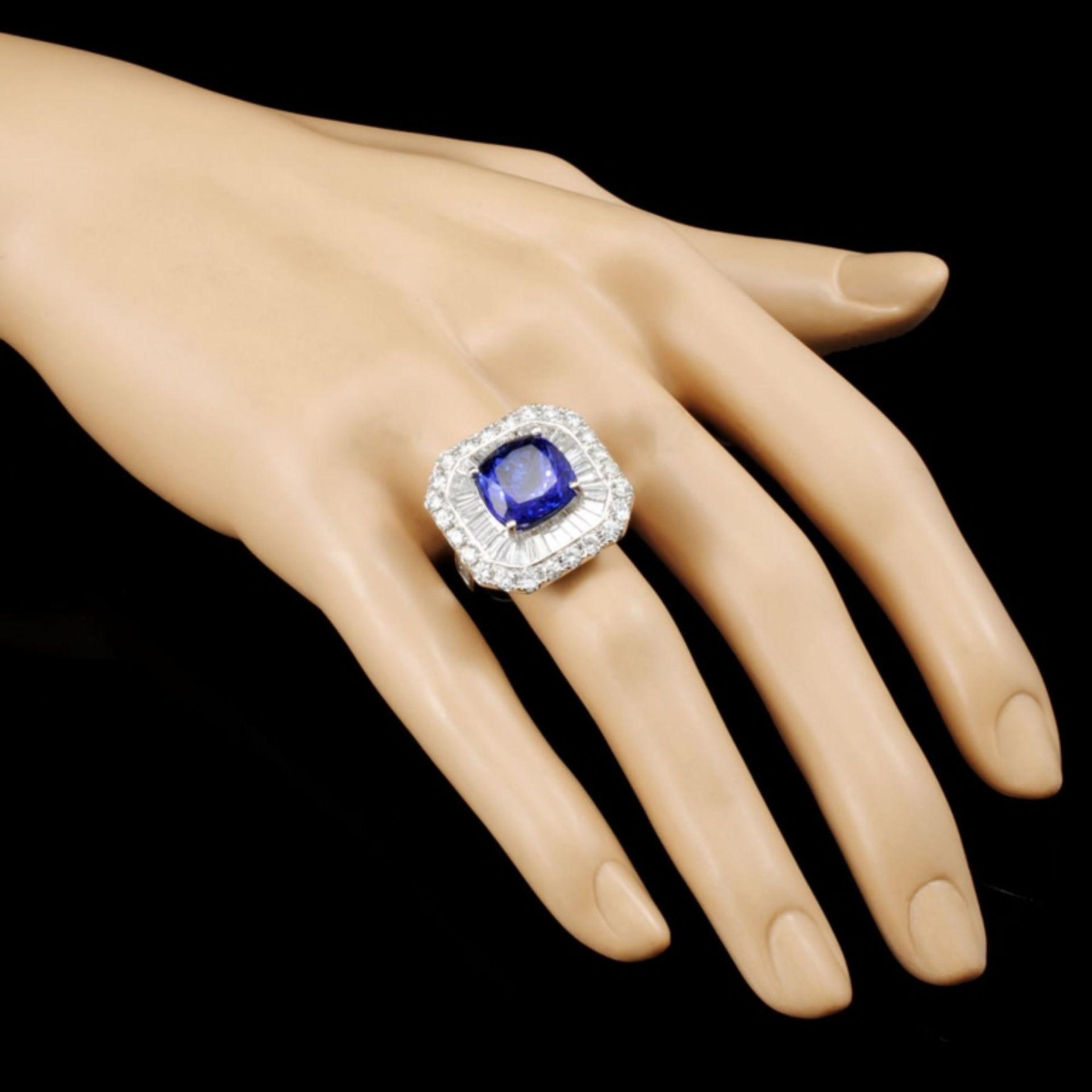 18K Gold 7.60ct Tanzanite & 3.33ctw Diamond Ring - Image 3 of 5