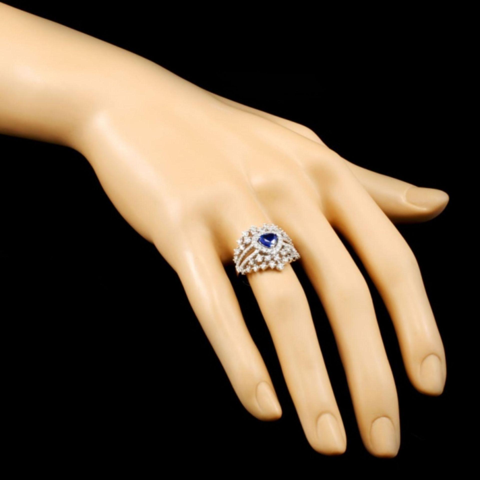 18K Gold 0.83ct Sapphire & 1.02ctw Diamond Ring - Image 3 of 4