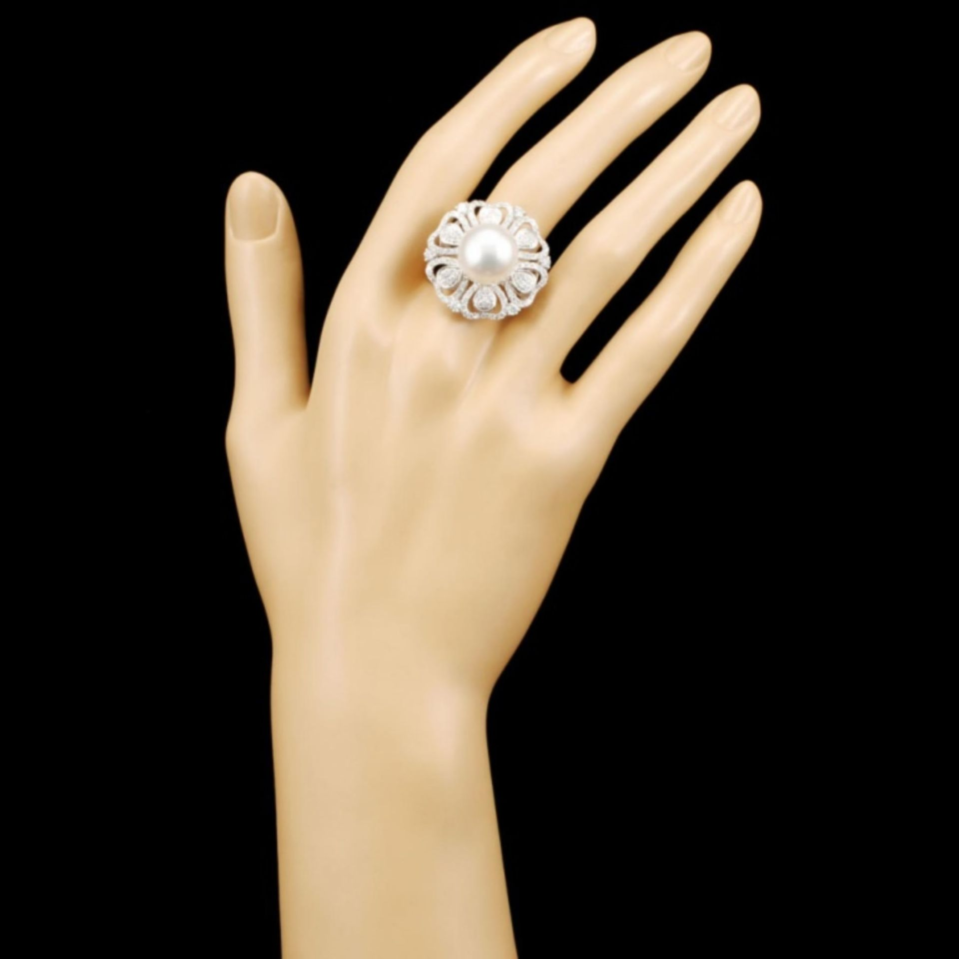 18K Gold 13MM Pearl & 1.61ctw Diamond Ring - Image 4 of 5