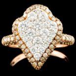 14K Gold 1.91ctw Fancy Color Diamond Ring