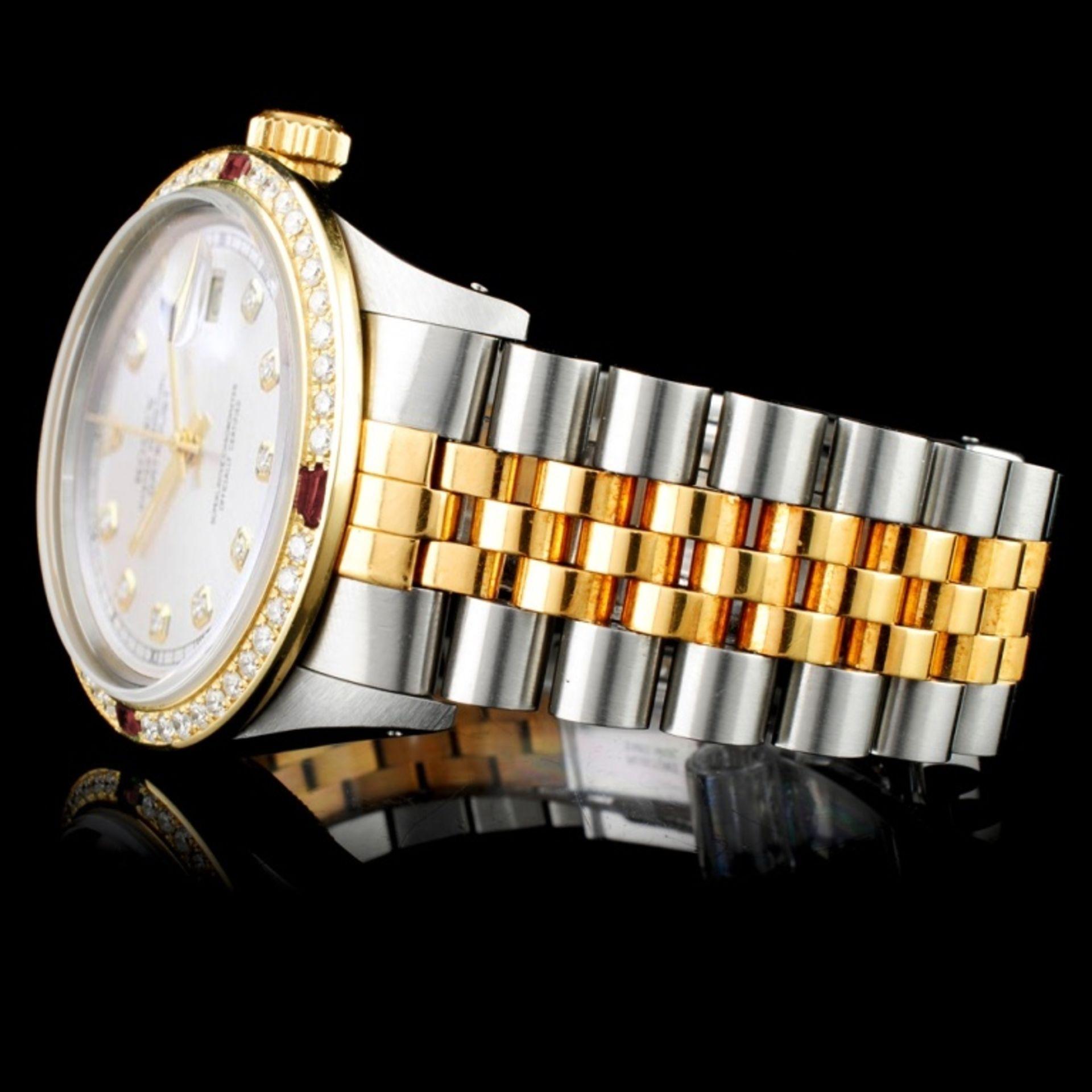 Rolex DateJust 18K/SS Diamond 36mm Watch - Image 3 of 6