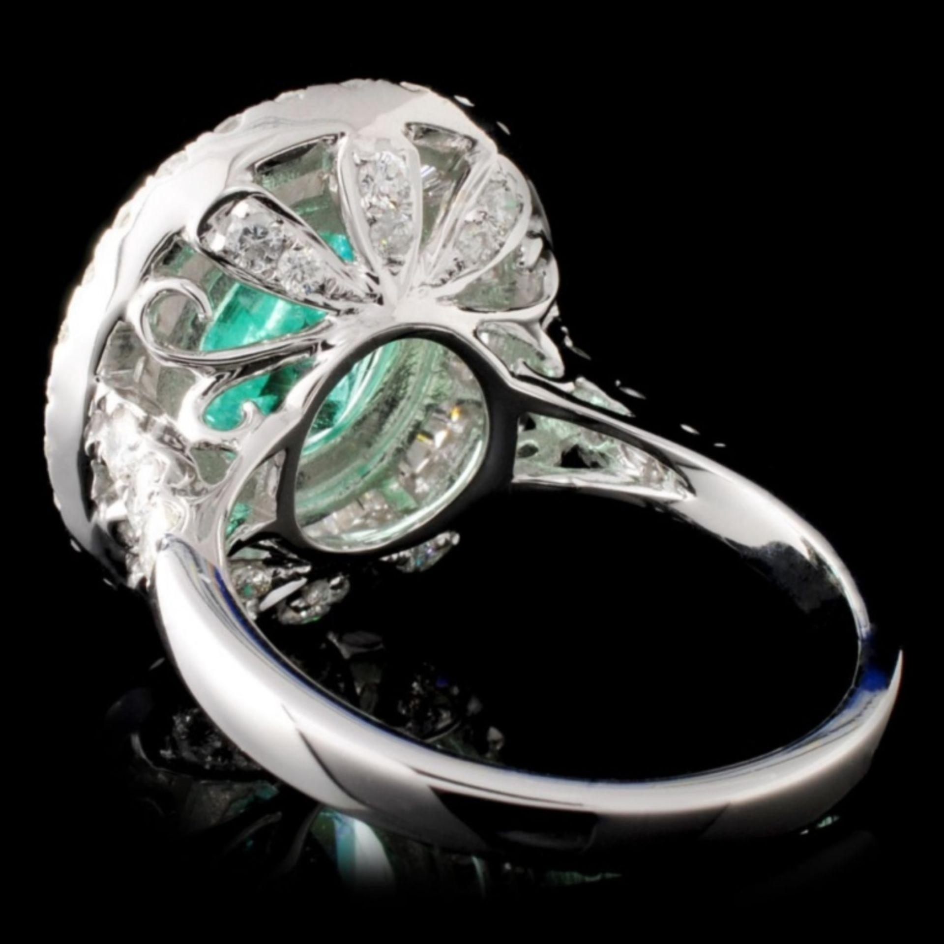 18K Gold 2.50ct Emerald & 1.79ctw Diamond Ring - Image 3 of 4