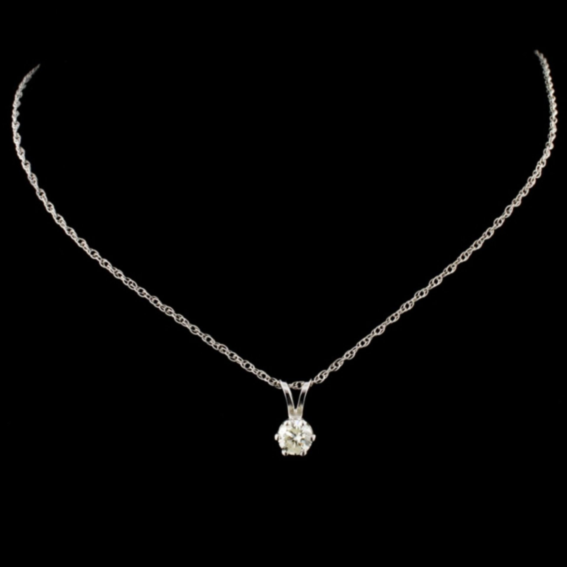 14K Gold 0.25ctw Diamond Pendant - Image 2 of 3