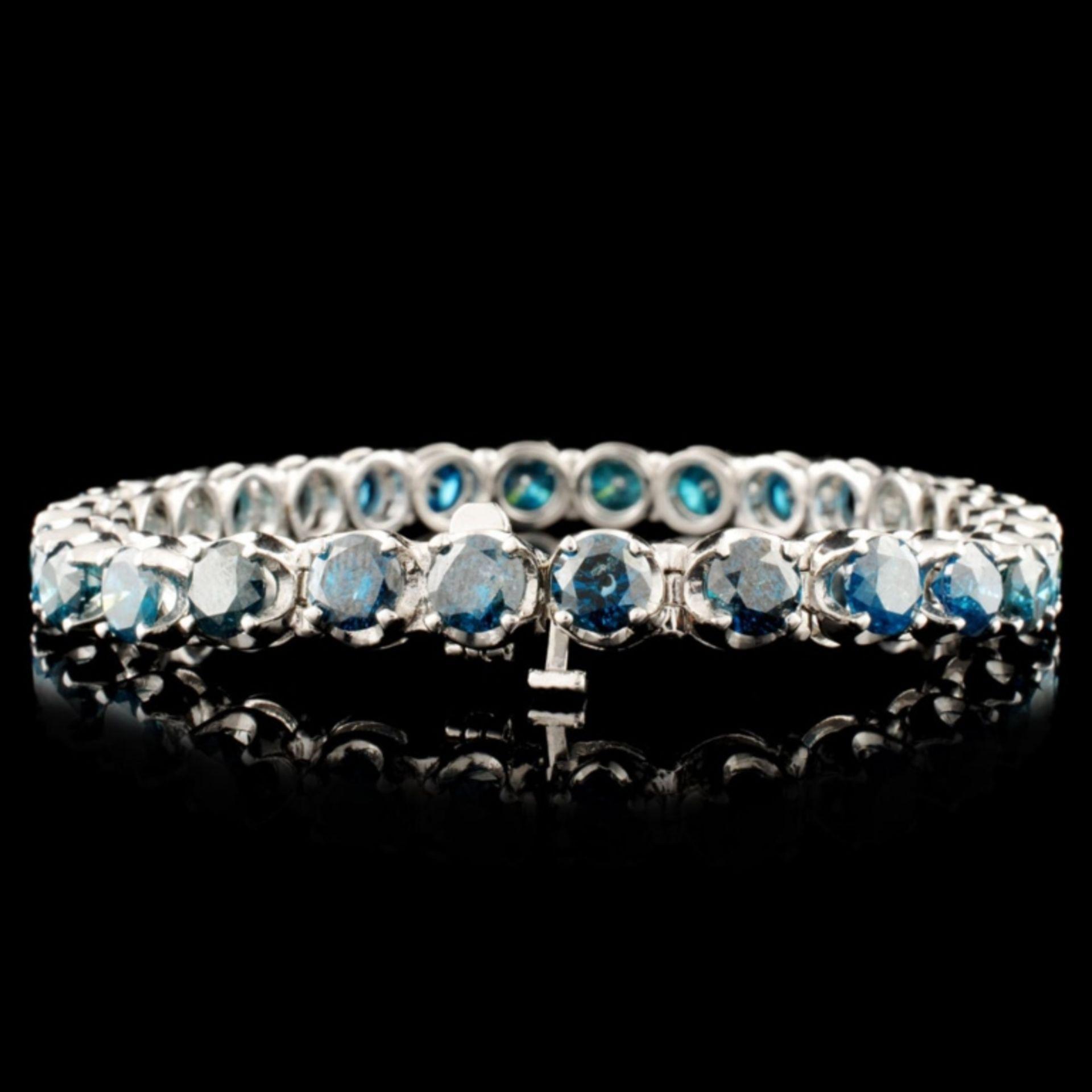 14K Gold 16.98ctw Tennis Diamond Bracelet - Image 2 of 4