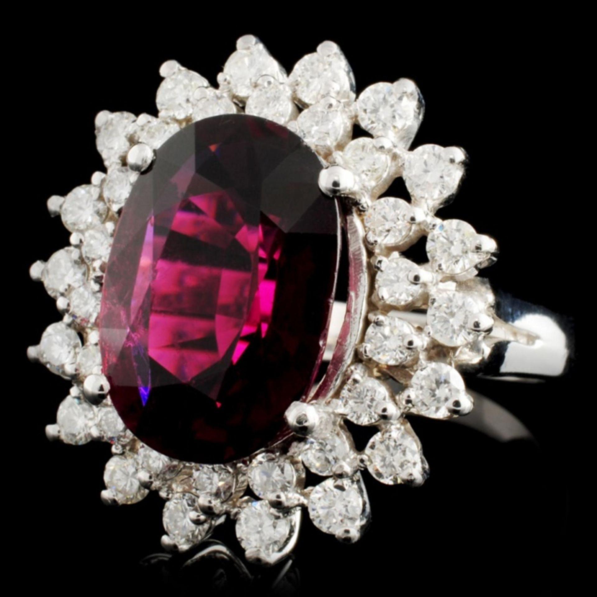 14K Gold 6.40ct Tourmaline & 1.30ctw Diamond Ring - Image 2 of 4