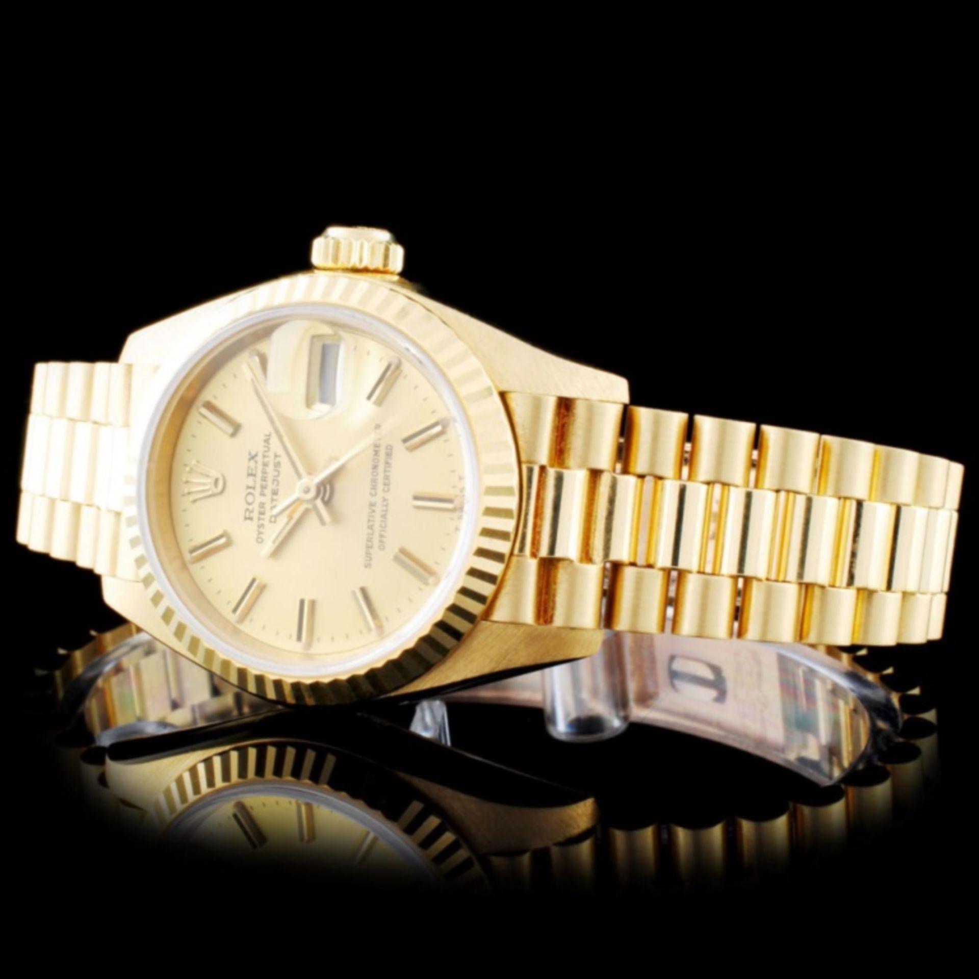 Rolex 18K Gold Presidential Ladies Wristwatch - Image 2 of 5