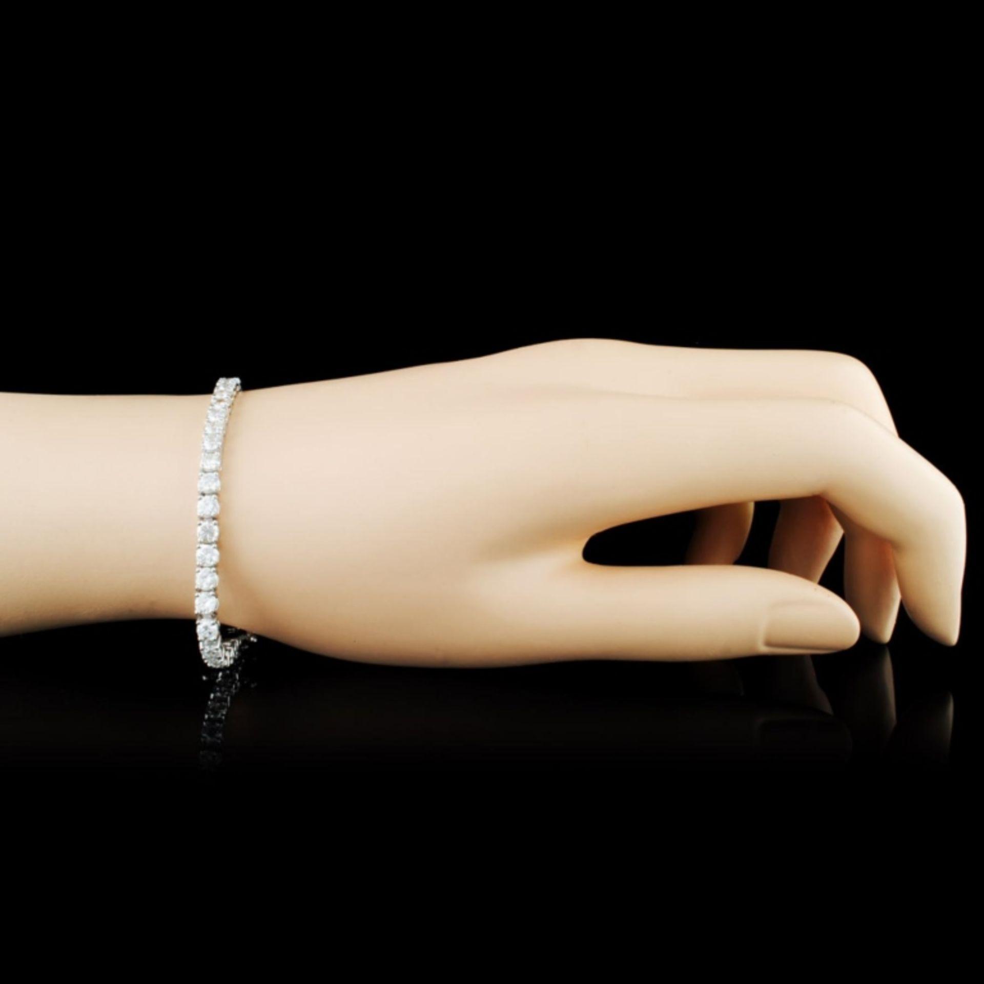 14K Gold 7.59ctw Diamond Bracelet - Image 3 of 4