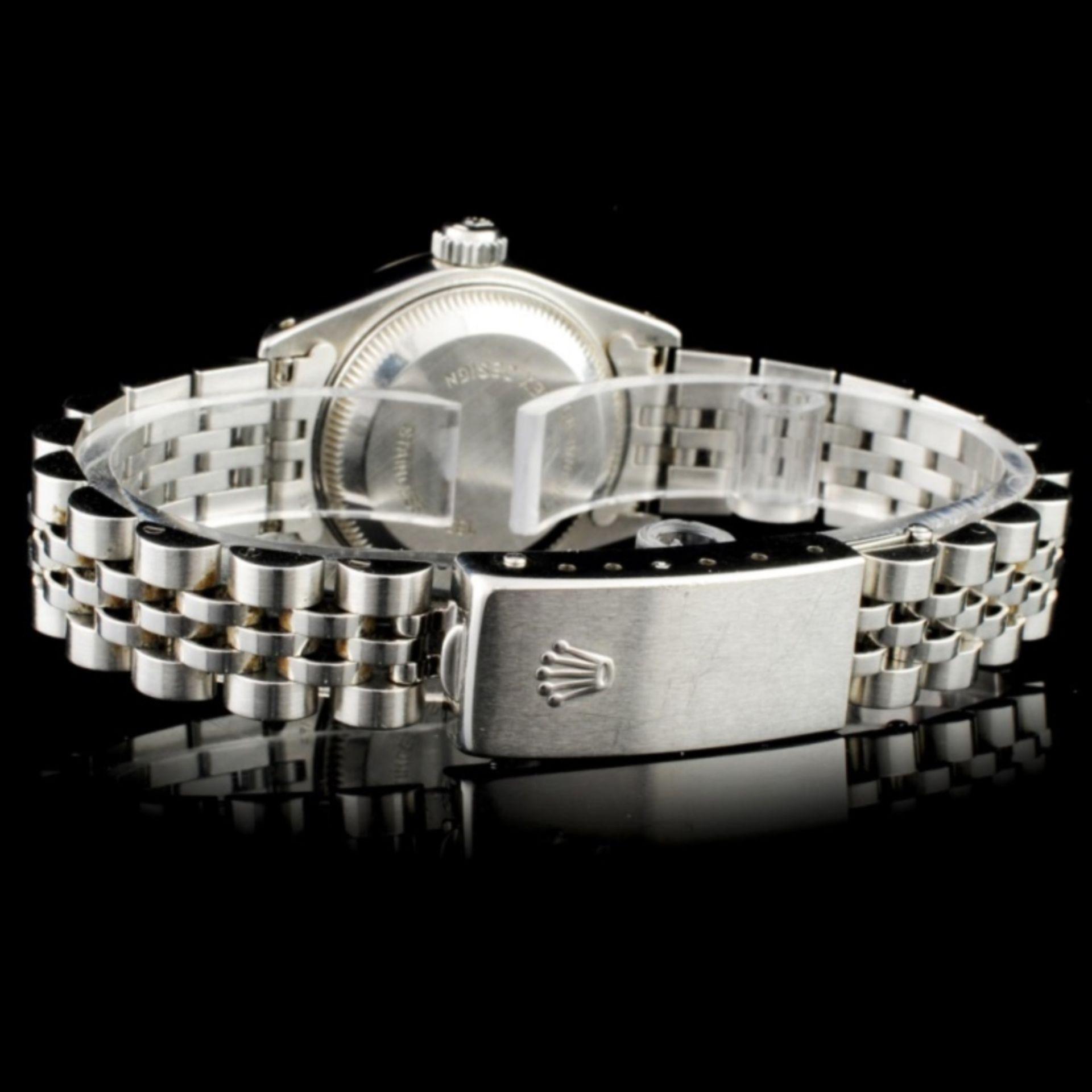 Rolex DateJust 18K & SS Ladies Wristwatch - Image 4 of 6