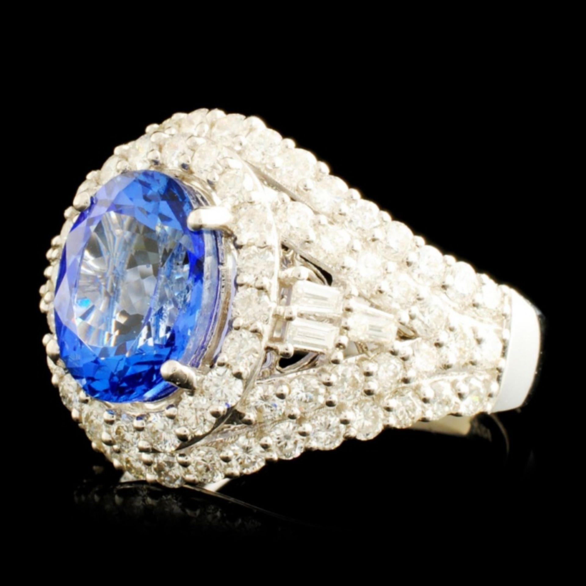 18K Gold 2.81ct Tanzanite & 1.65ctw Diamond Ring - Image 2 of 5