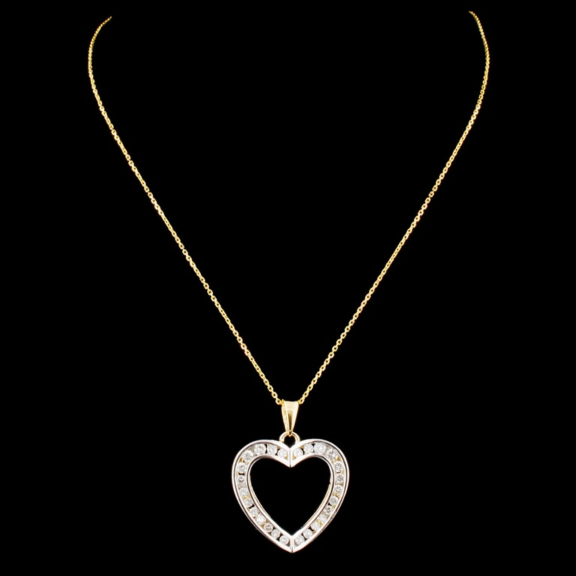 14K Gold 0.58ctw Diamond Pendant - Image 2 of 3