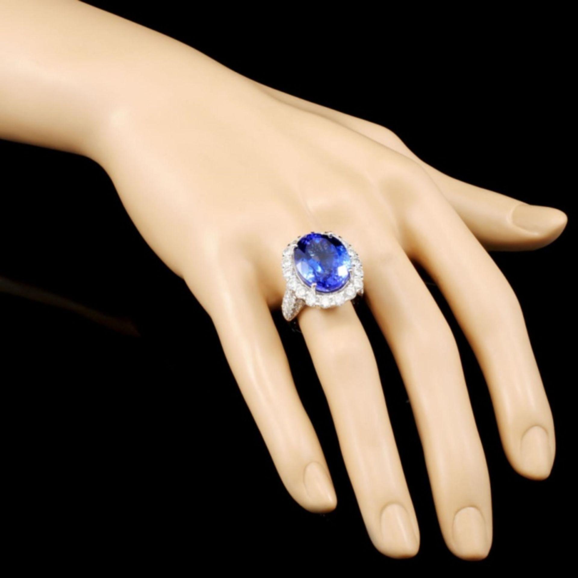 18K Gold 16.11ct Tanzanite & 3.06ctw Diamond Ring - Image 3 of 5