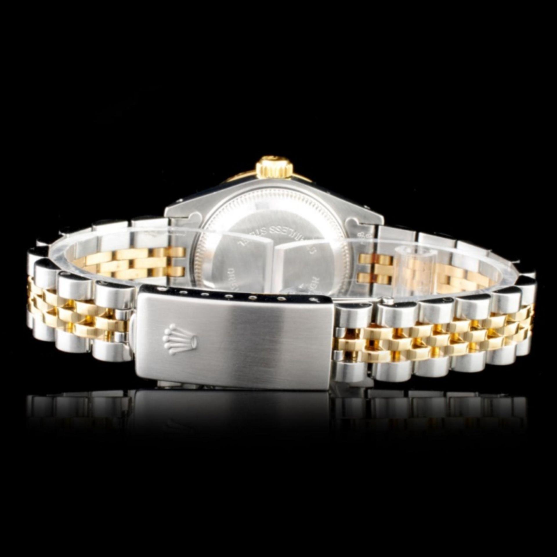 Rolex YG/SS DateJust Diamond Ladies Watch - Image 3 of 5
