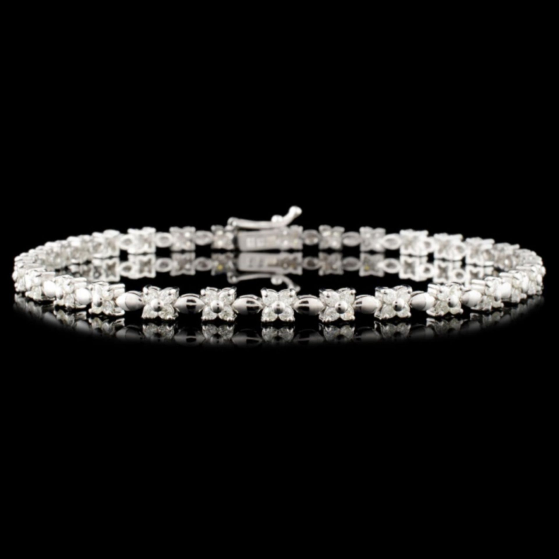 18K Gold 1.25ctw Diamond Bracelet