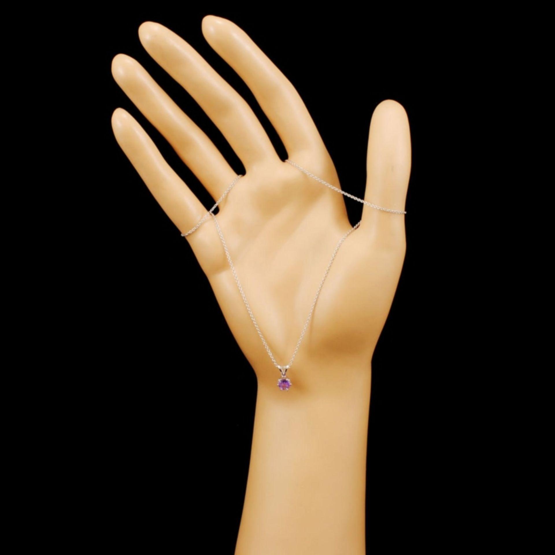 14K Gold 0.67ctw Sapphire Pendant - Image 3 of 4
