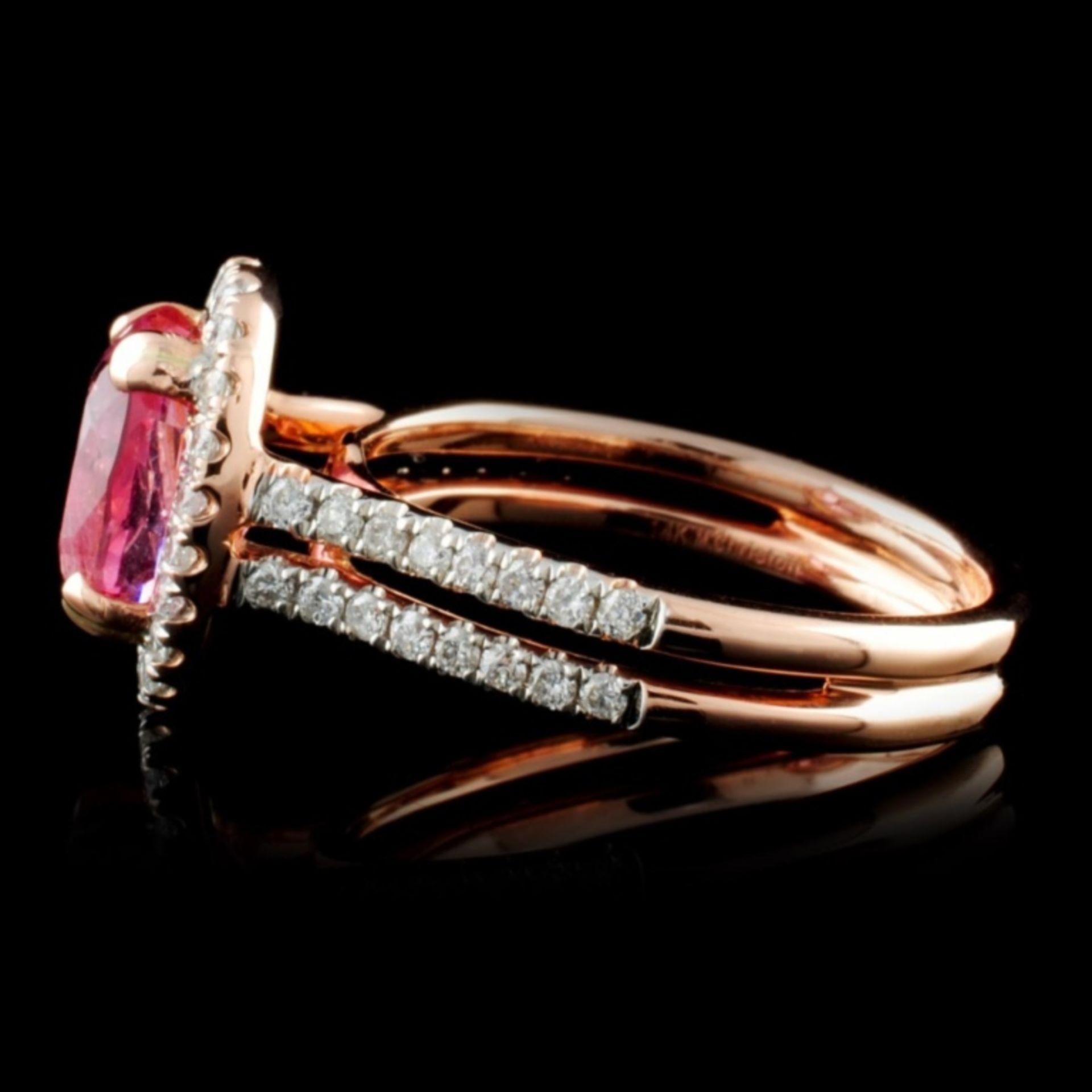 14K Rose Gold 2.40ct Spinel & 0.46ctw Diamond Ring - Image 3 of 4