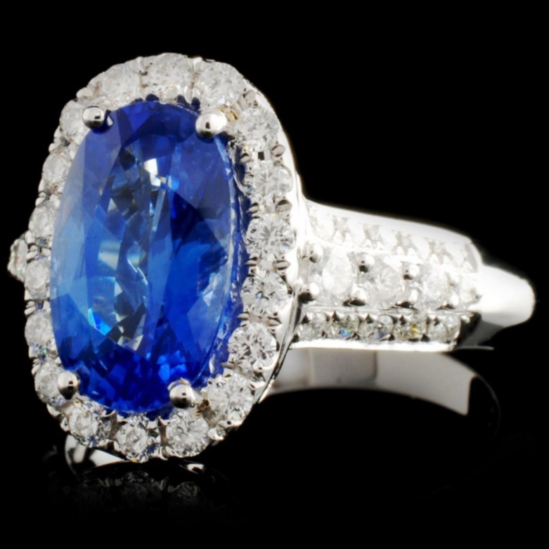 18K White Gold 3.19ct Sapphire & 0.73ct Diamond Ri - Image 2 of 4
