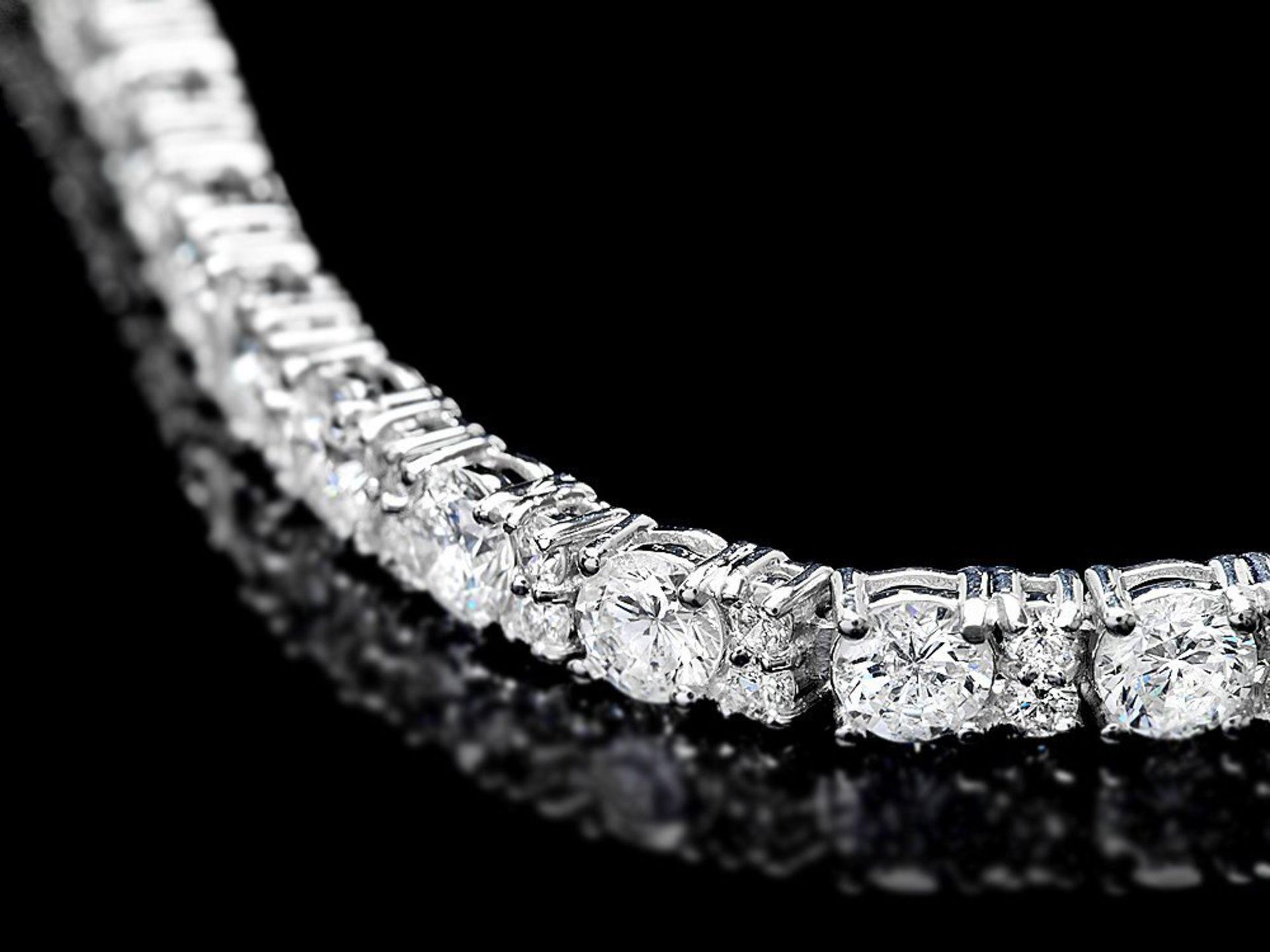 18k White Gold 9.00ct Diamond Bracelet - Image 2 of 4